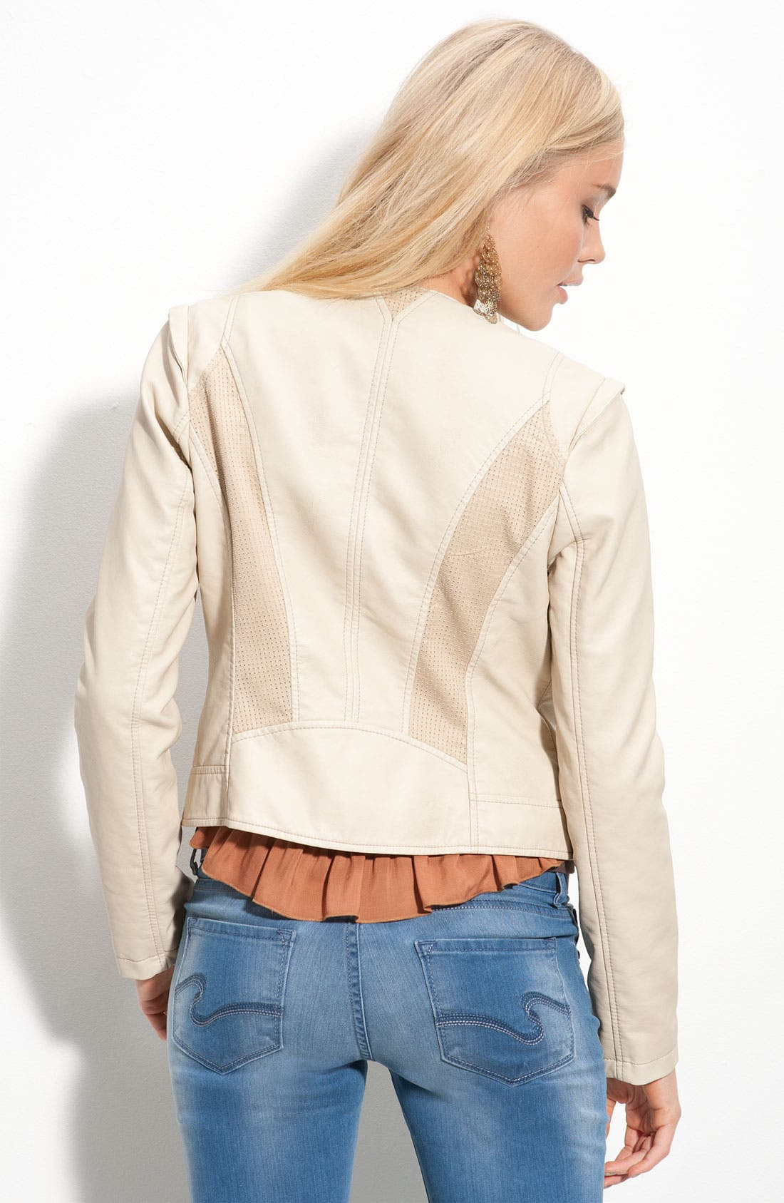 Faux Leather Asymmetrical Jacket,                             Alternate thumbnail 2, color,                             272