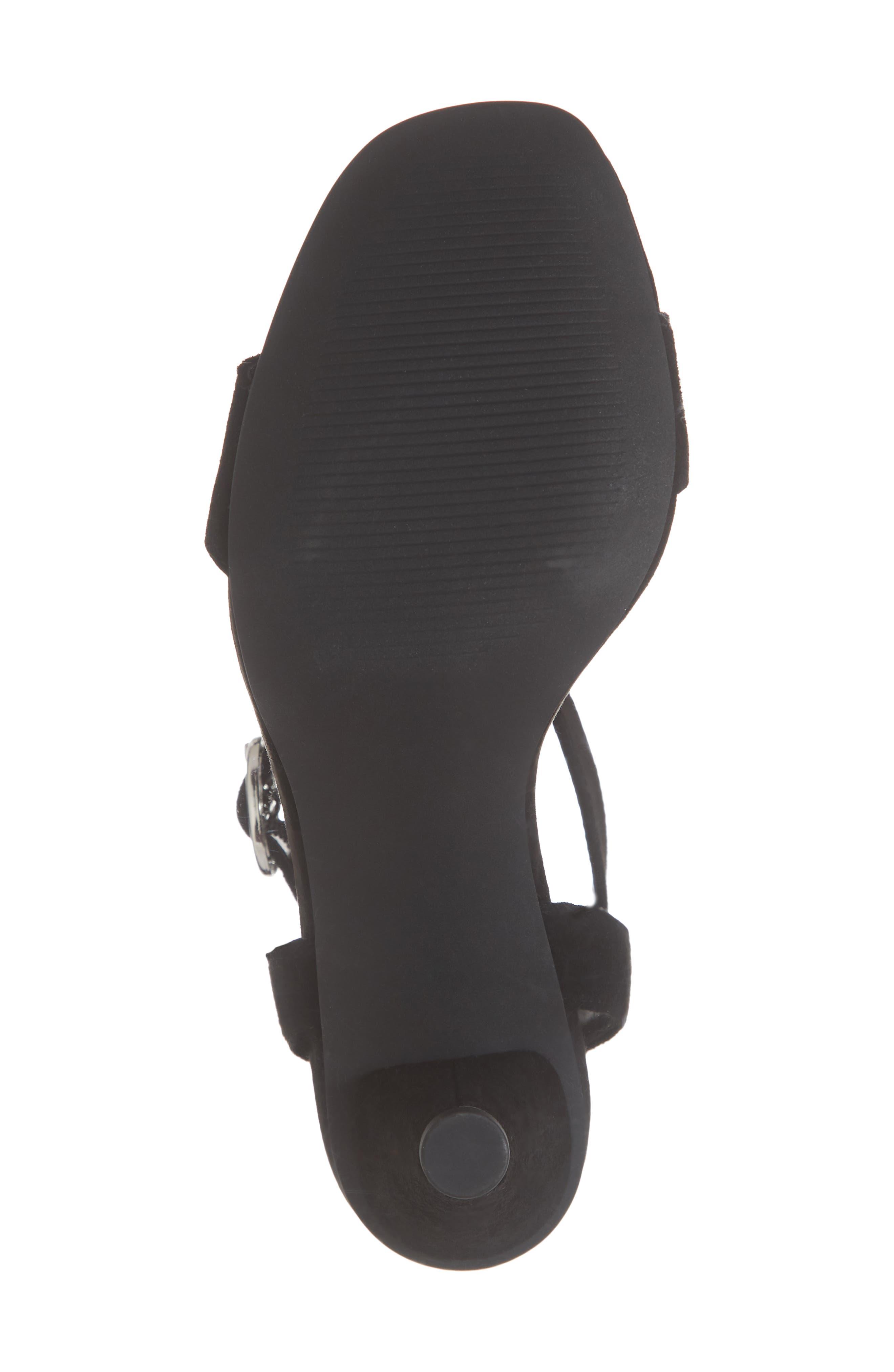 Cleo Cone Heel Sandal,                             Alternate thumbnail 6, color,                             BLACK SUEDE