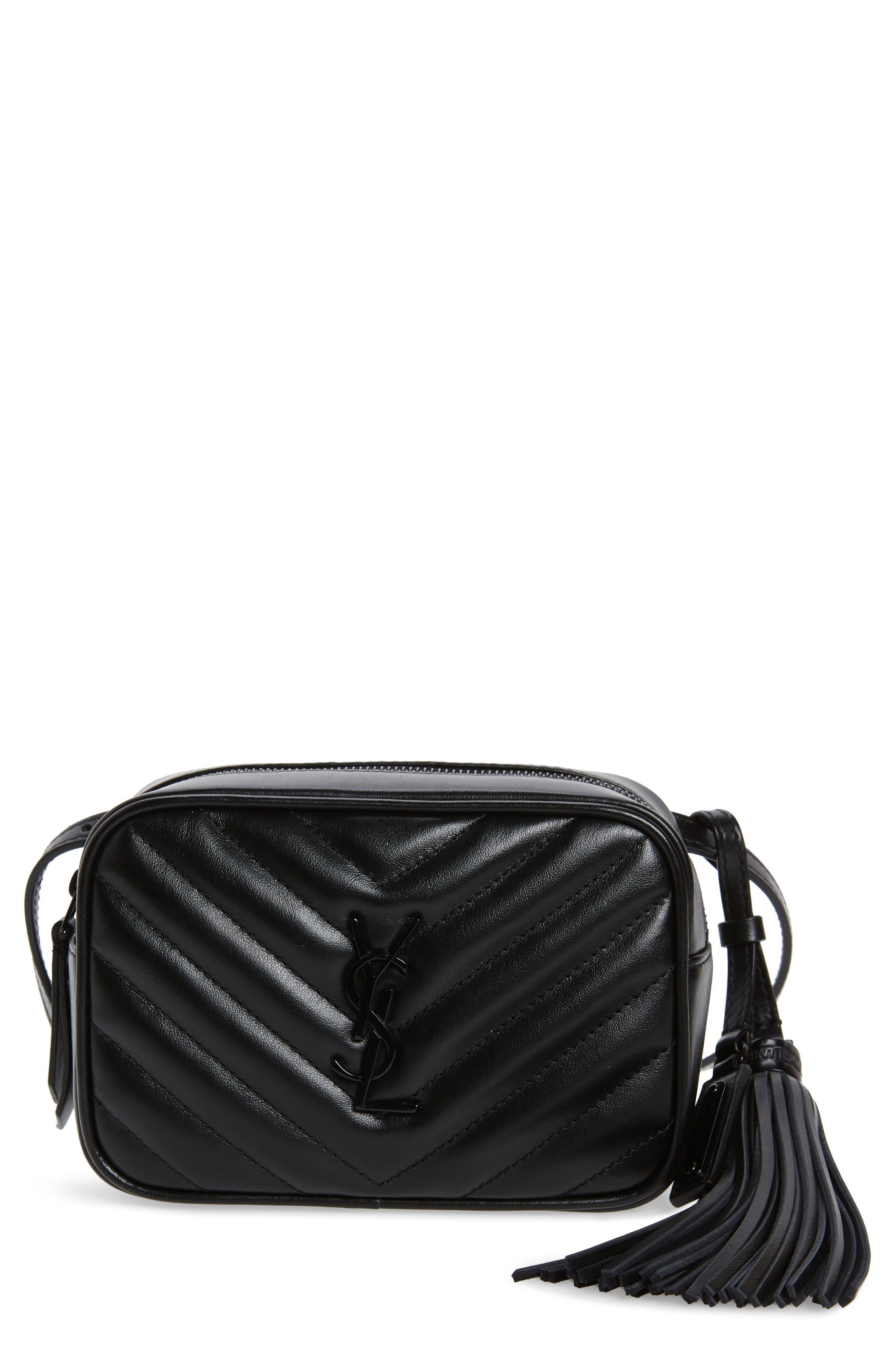 Lou Matelassé Leather Belt Bag,                         Main,                         color, NOIR