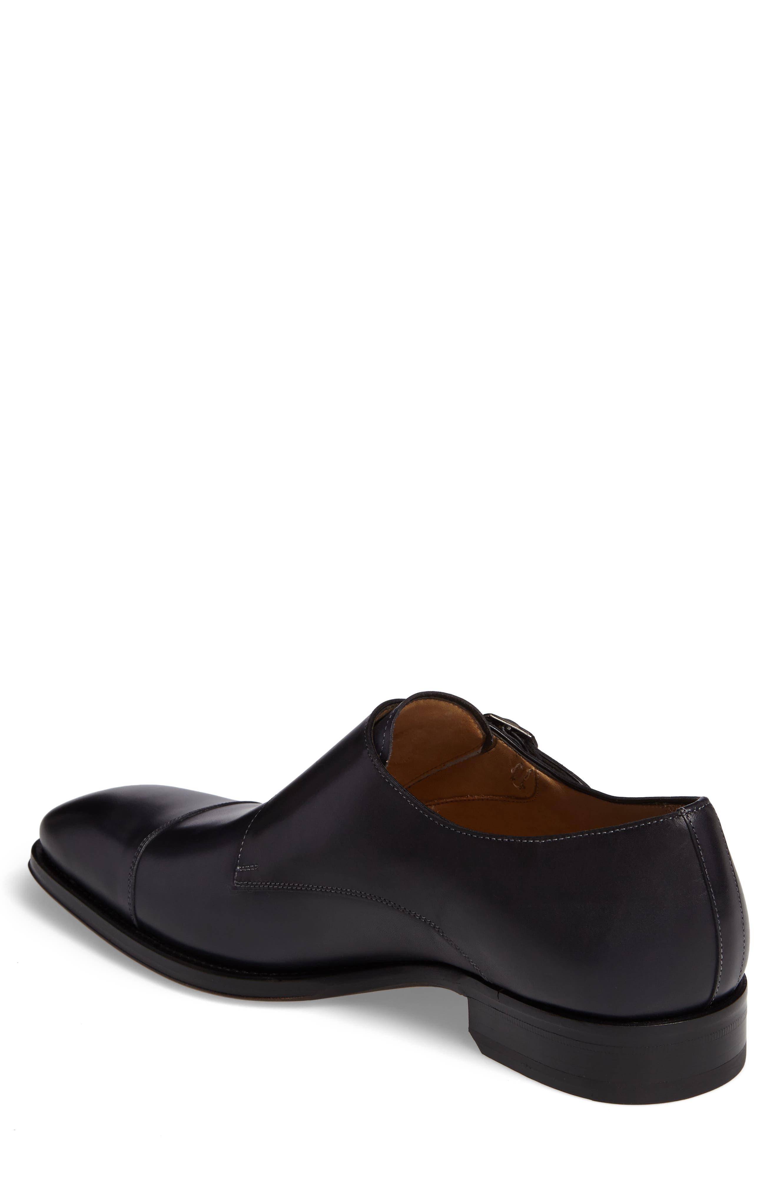 Cajal Double Monk Strap Cap Toe Shoe,                             Alternate thumbnail 2, color,                             001