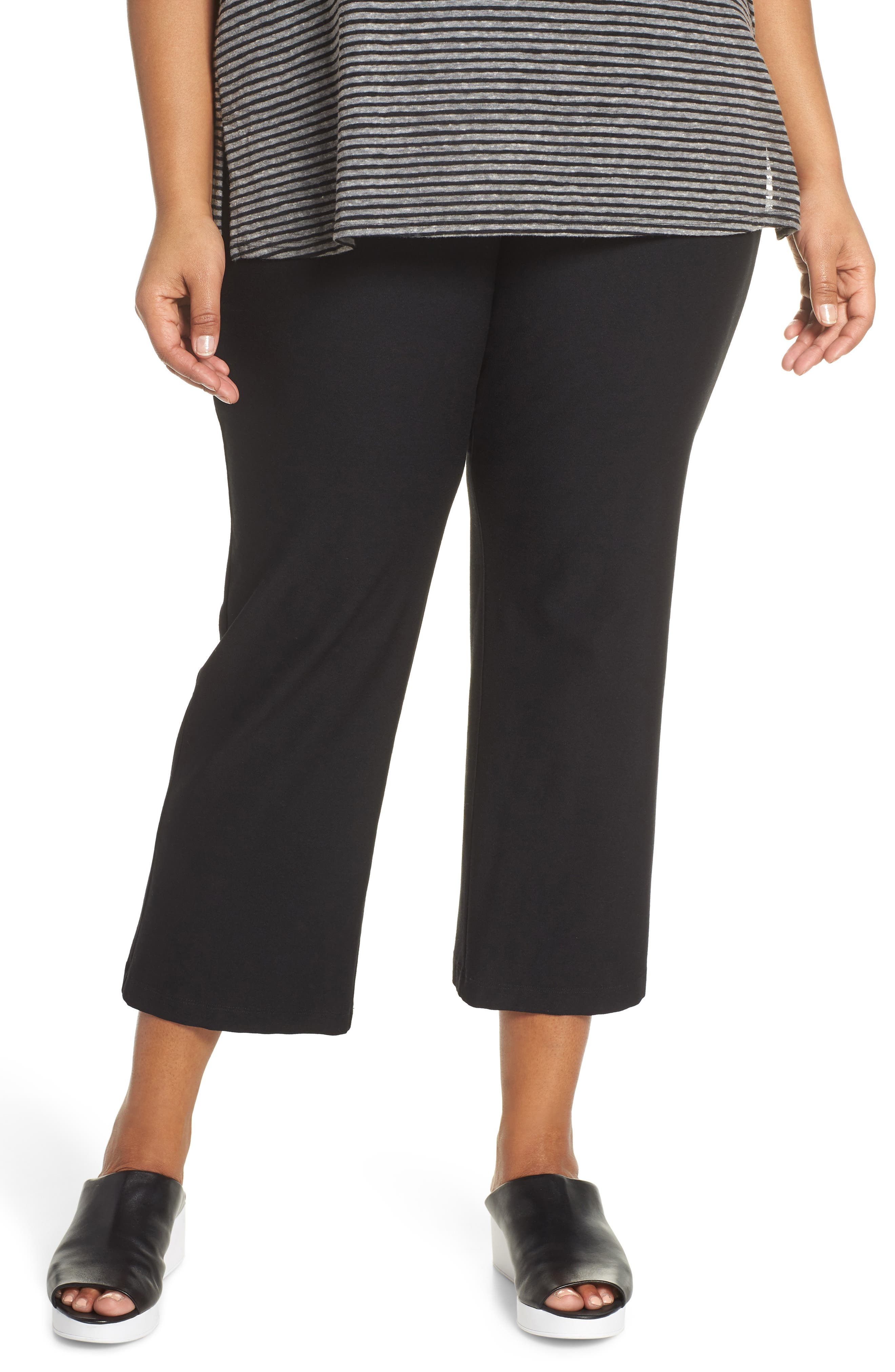 Plus Size Eileen Fisher Flare Ankle Pants