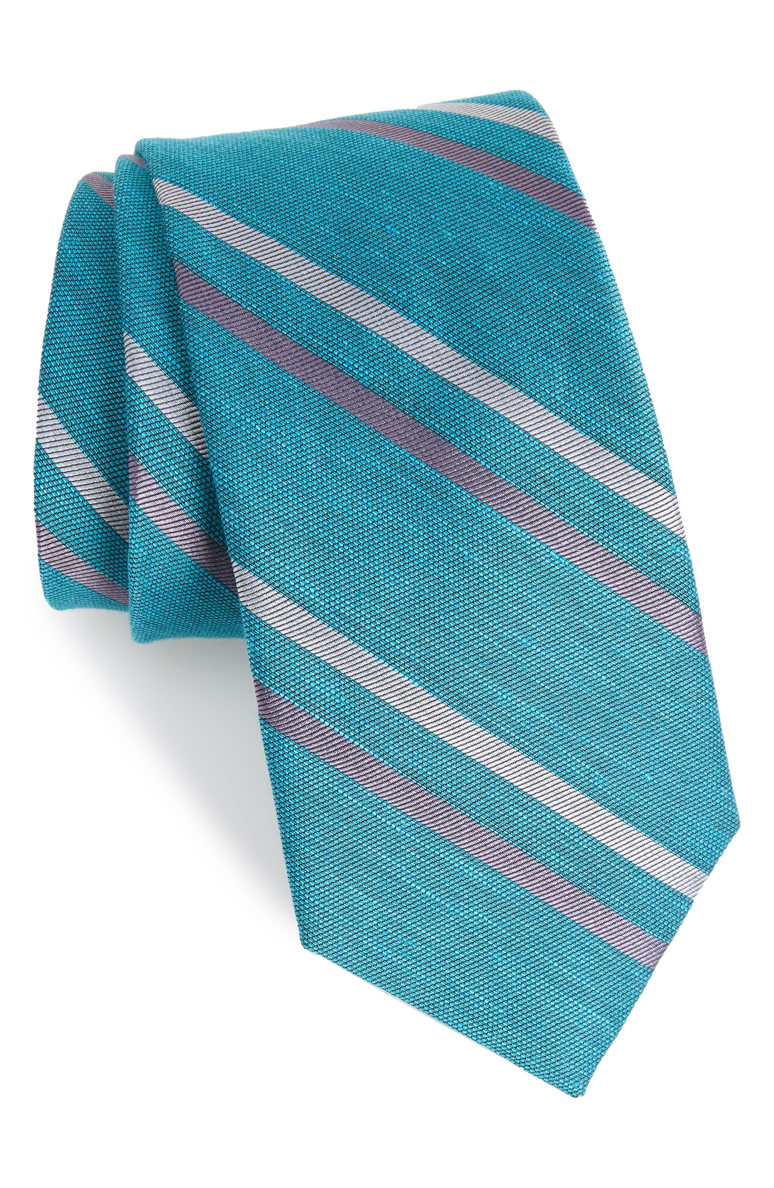 Pep Stripe Tie,                         Main,                         color, AQUA