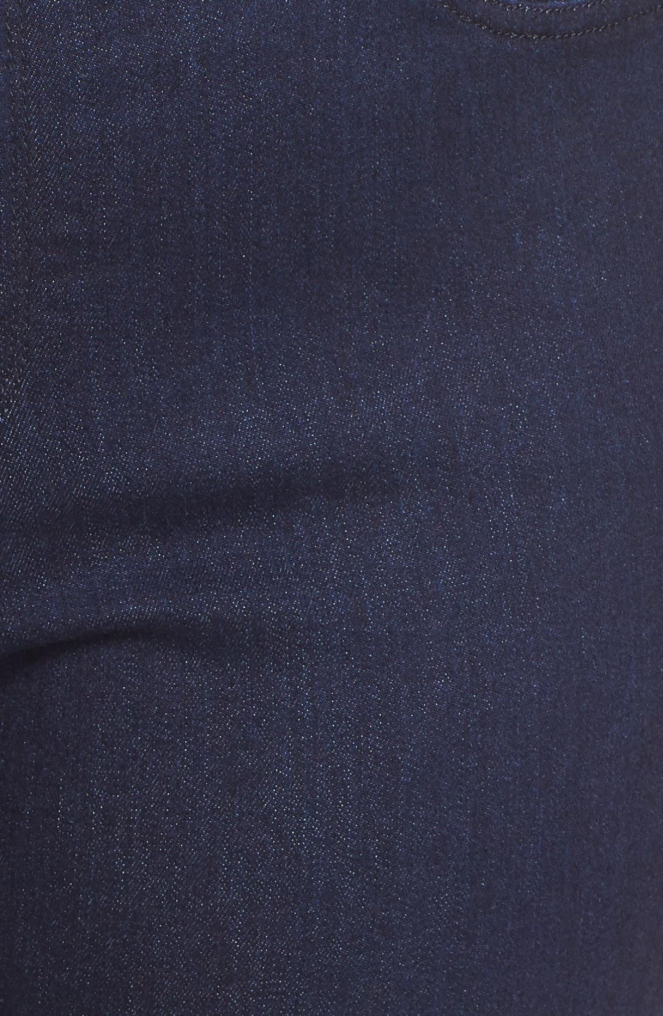 Marilyn High Rise Straight Leg Jeans,                             Alternate thumbnail 6, color,                             RINSE TONAL STITCH