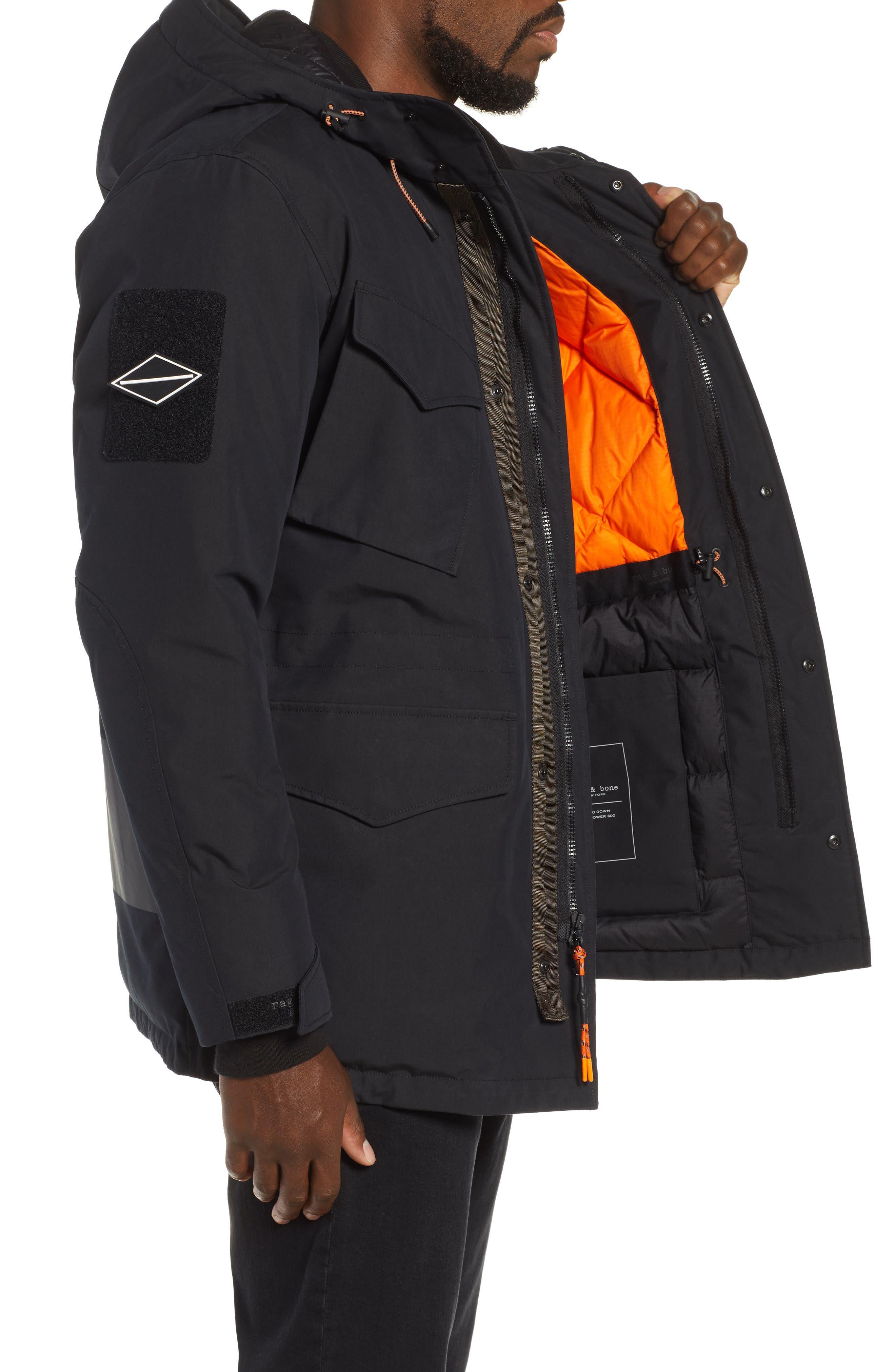 Regular Fit Surplus Down Jacket,                             Alternate thumbnail 3, color,                             BLACK