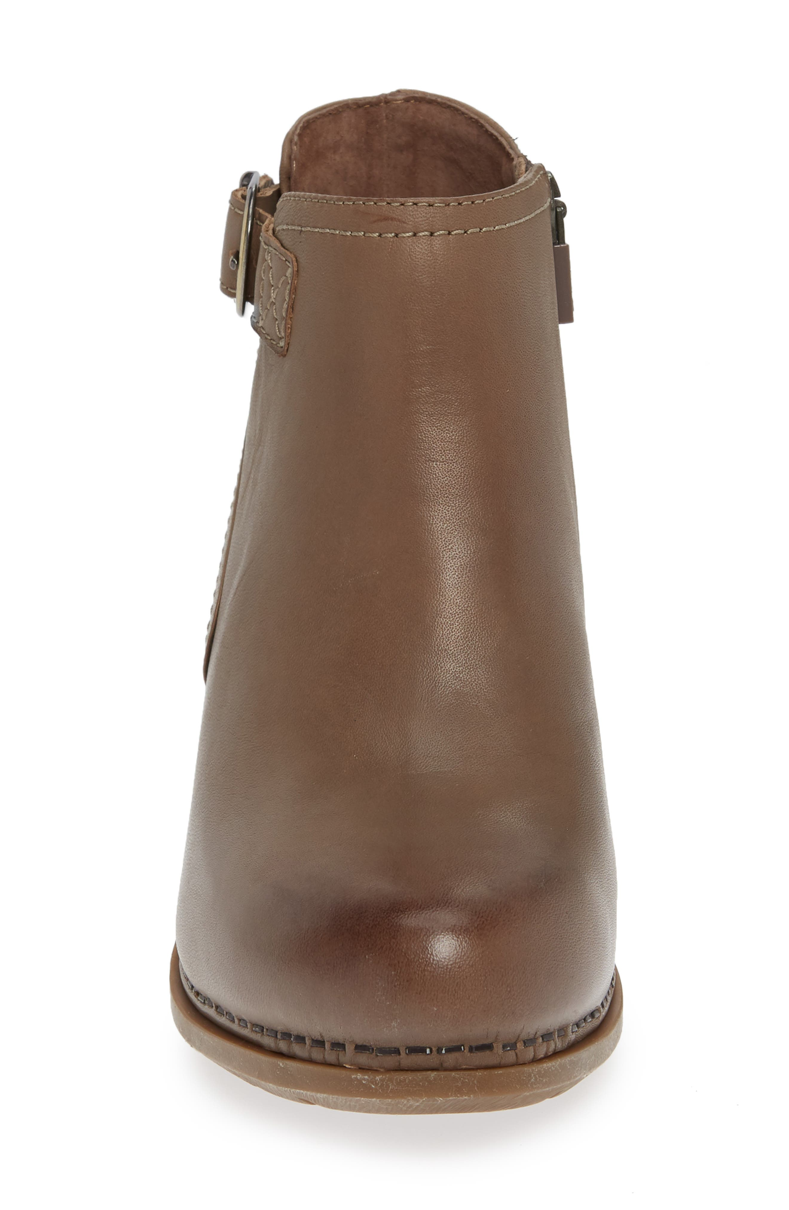Henley Bootie,                             Alternate thumbnail 4, color,                             TAUPE LEATHER