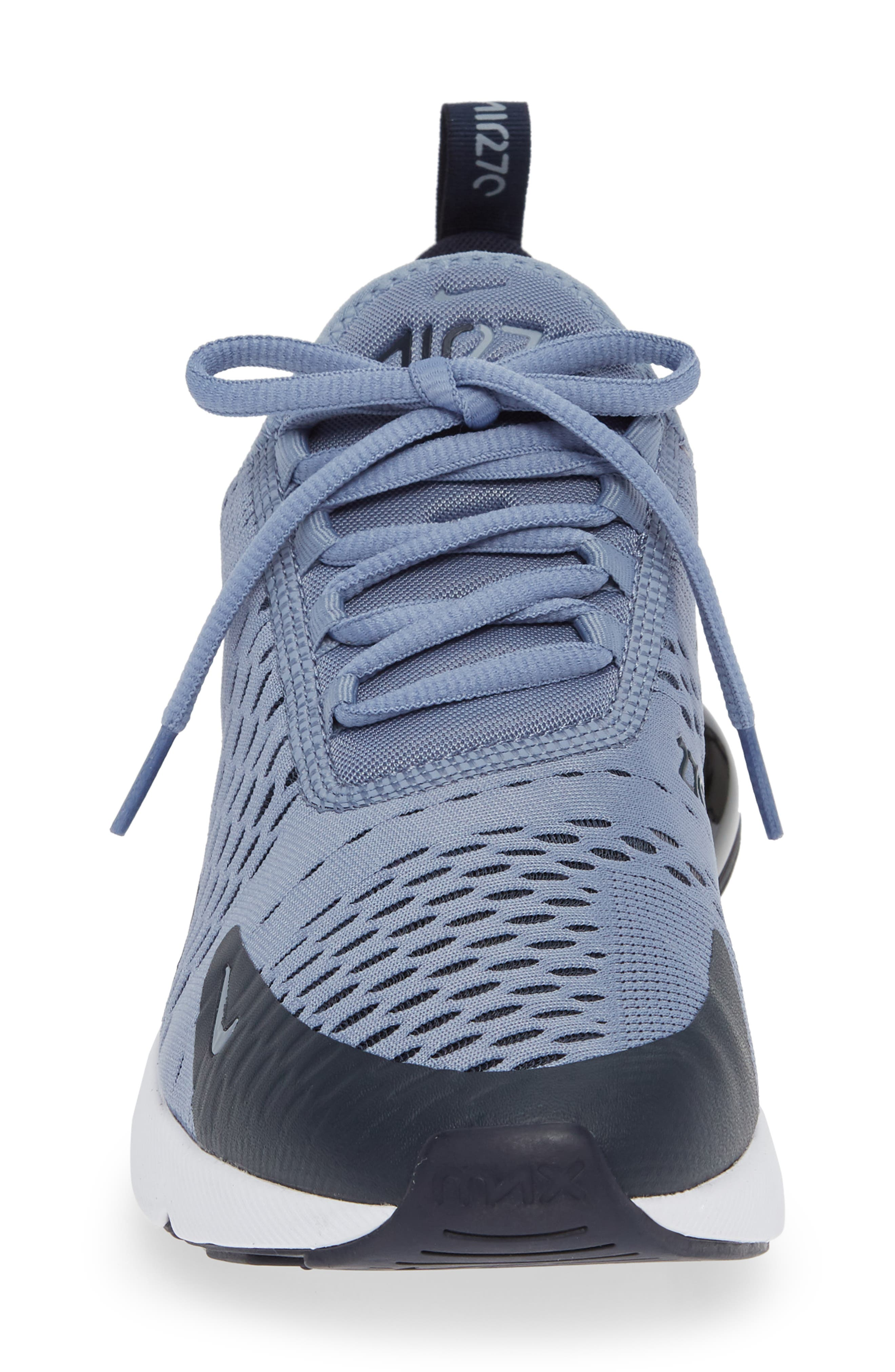 Air Max 270 Sneaker,                             Alternate thumbnail 4, color,                             ASHEN SLATE/ BLACK