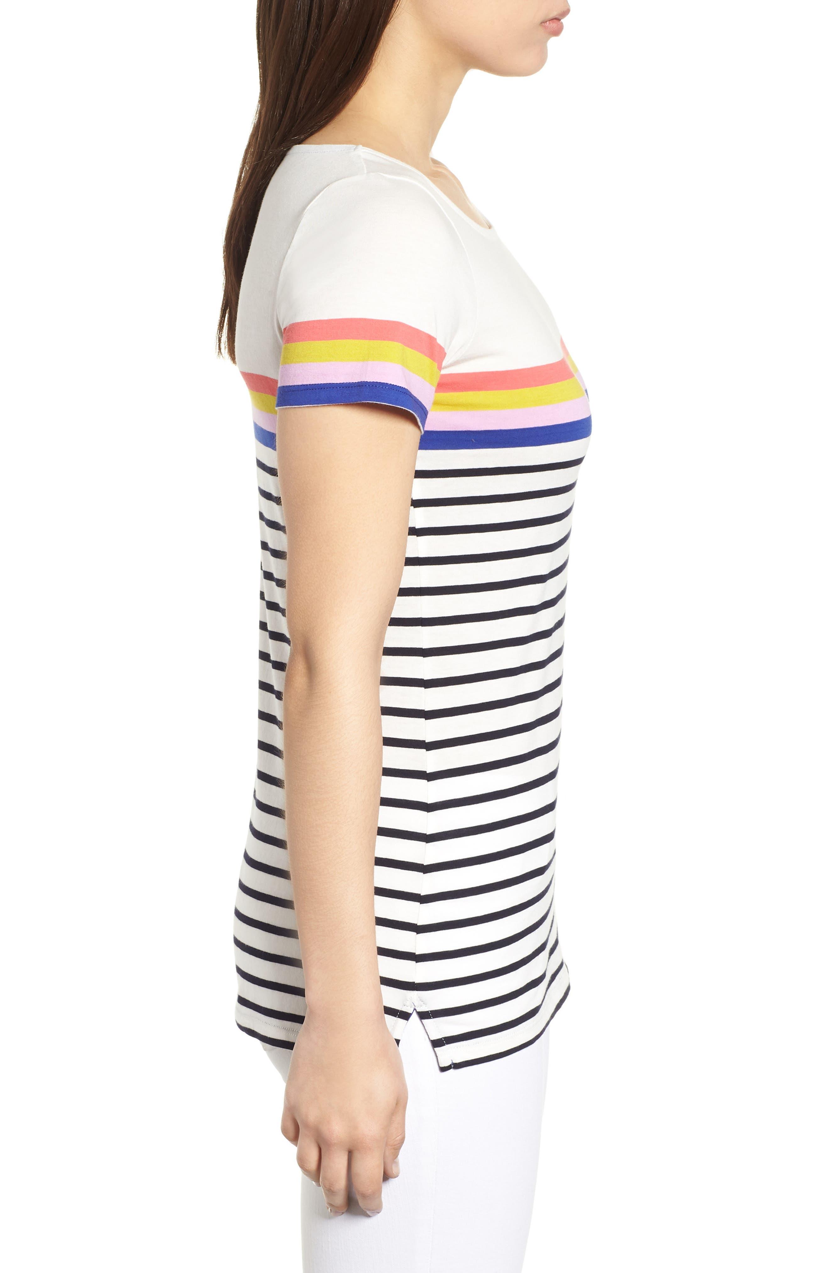 Breton Short Sleeve Stripe Cotton Top,                             Alternate thumbnail 15, color,