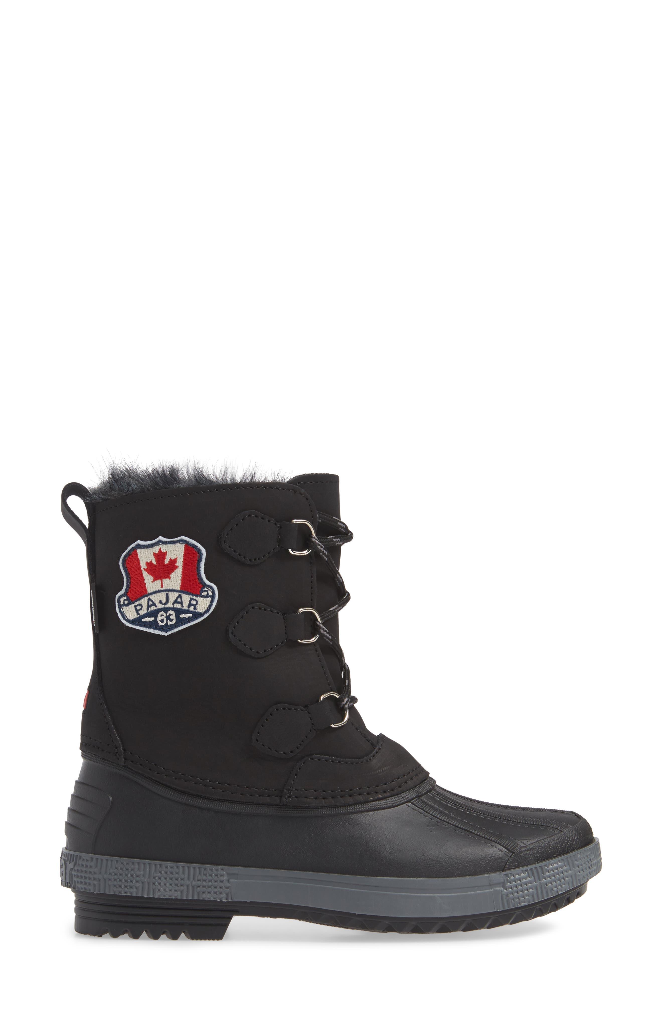 Cali Waterproof Insulated Boot,                             Alternate thumbnail 3, color,                             BROWN/ BLACK
