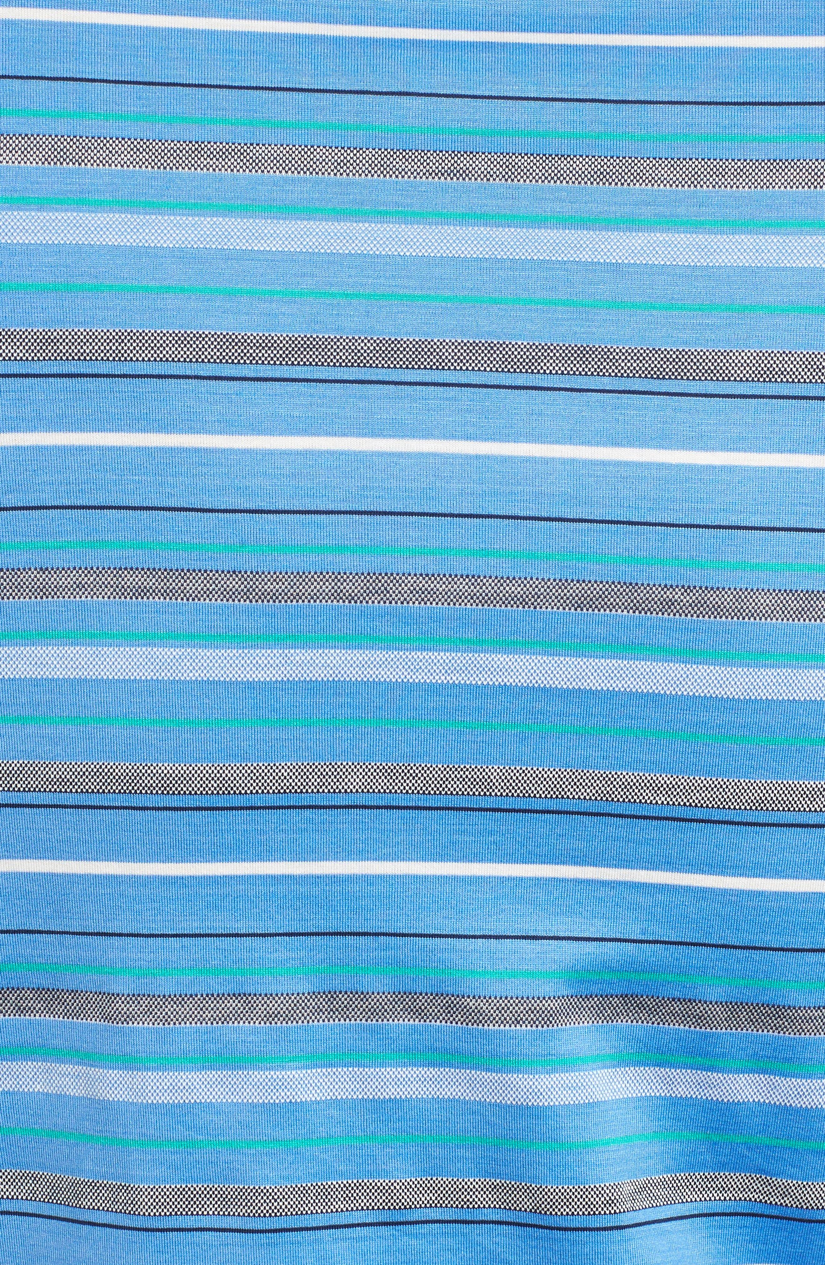 Isle Stripe Jacquard Polo,                             Alternate thumbnail 5, color,                             434