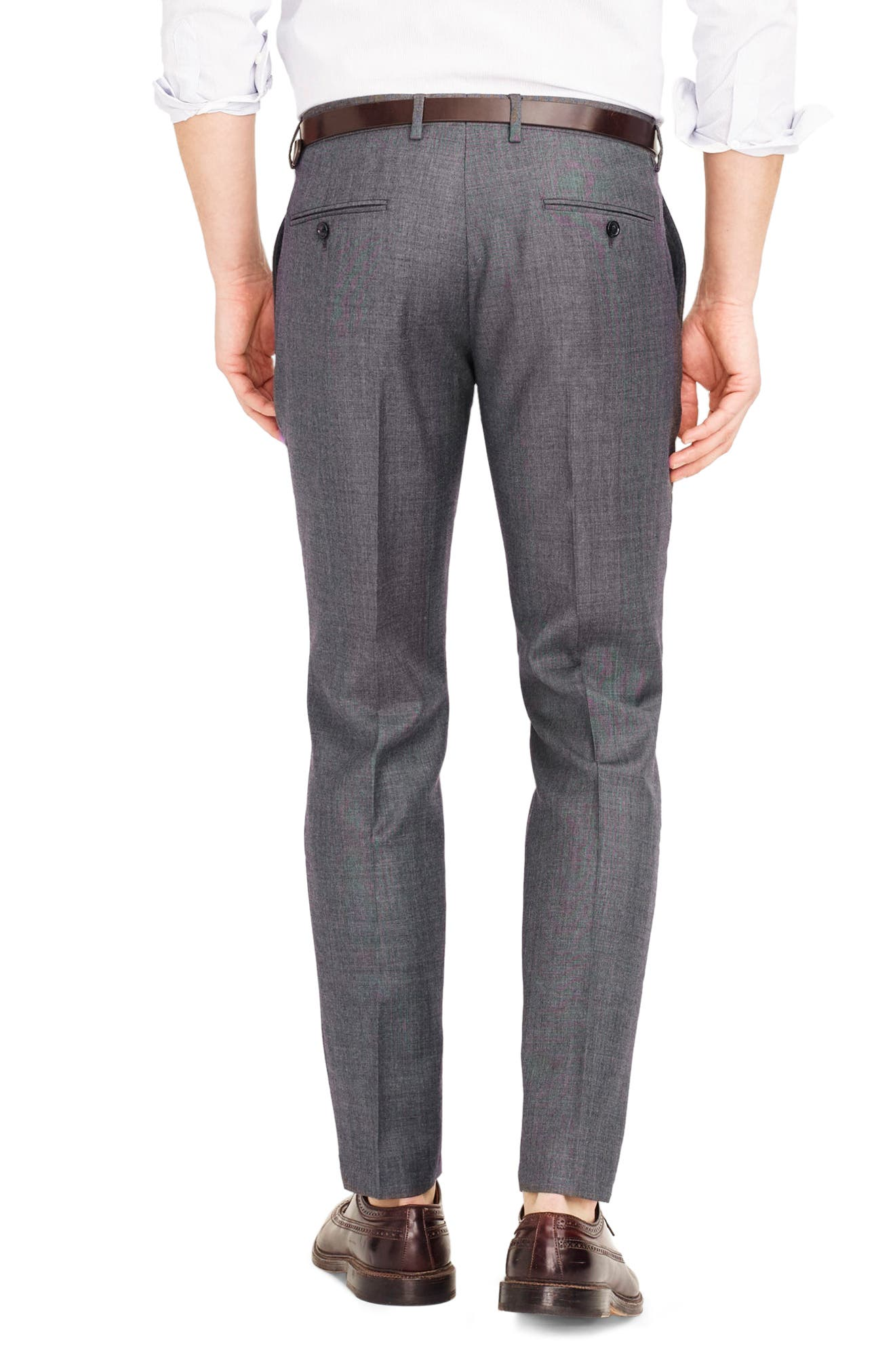 Ludlow Flat Front Solid Wool Trousers,                             Alternate thumbnail 17, color,