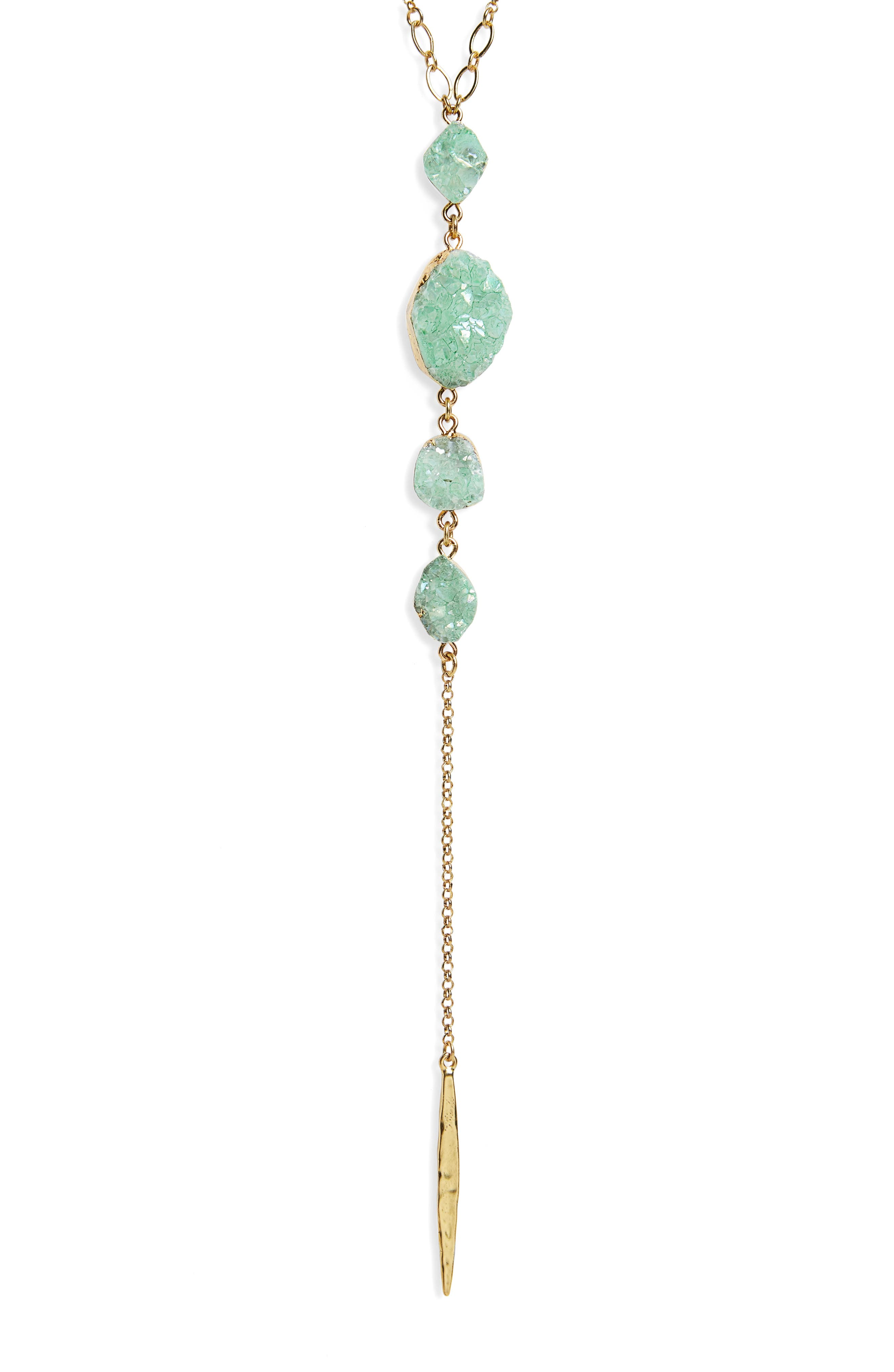 Drusy Chain Y-Necklace,                             Alternate thumbnail 2, color,                             310