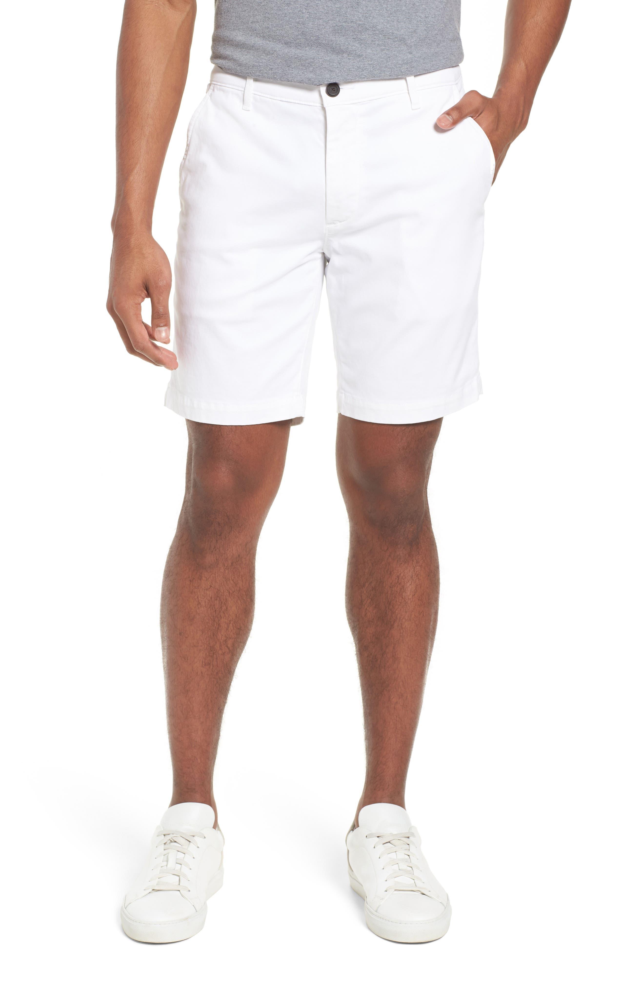 Wanderer Modern Slim Fit Shorts,                         Main,                         color, WHITE