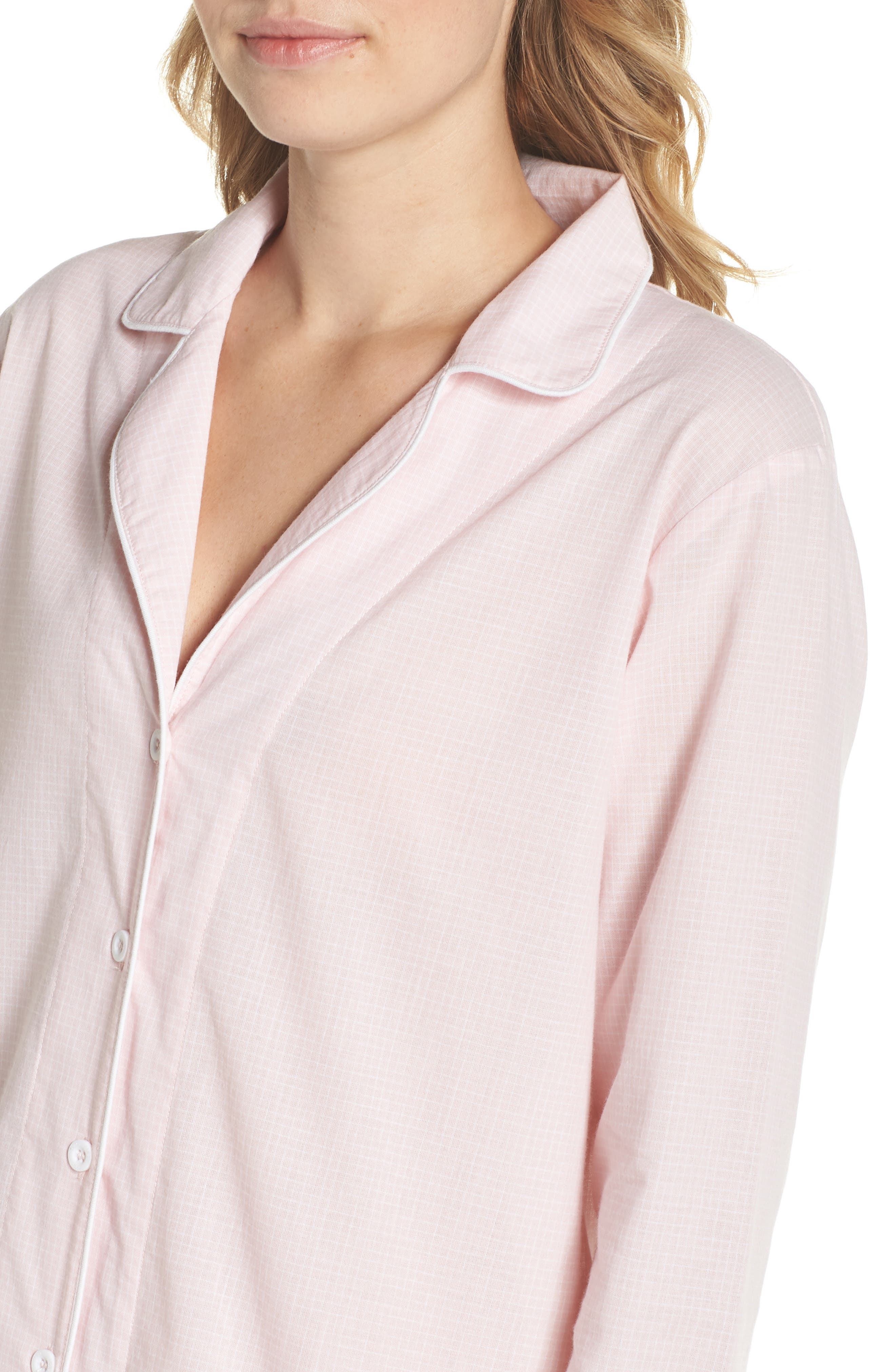 Cassandra Check Pajamas,                             Alternate thumbnail 4, color,                             656