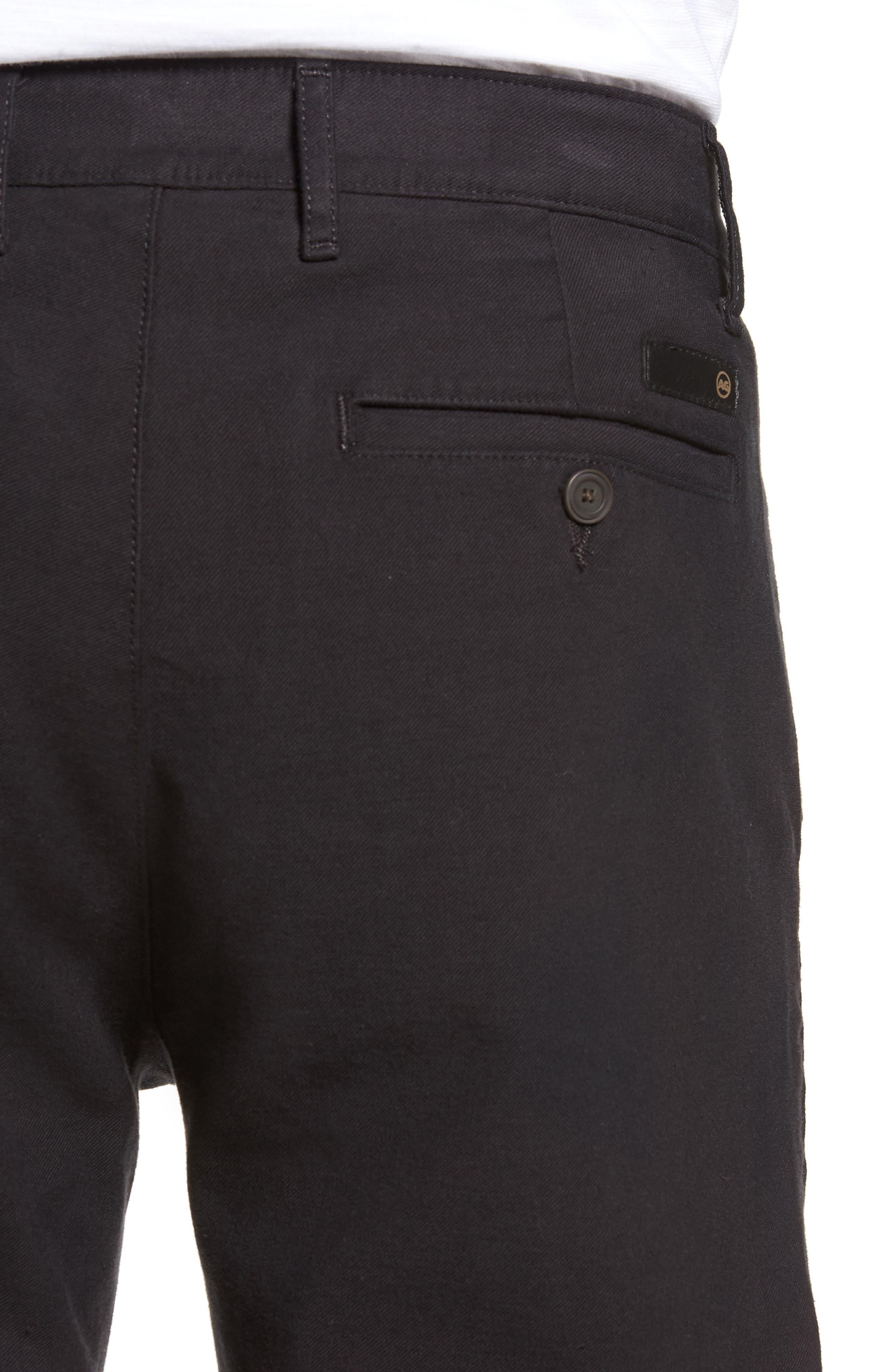 Marshall Slim Fit Chino Pants,                             Alternate thumbnail 4, color,                             GREY STONE