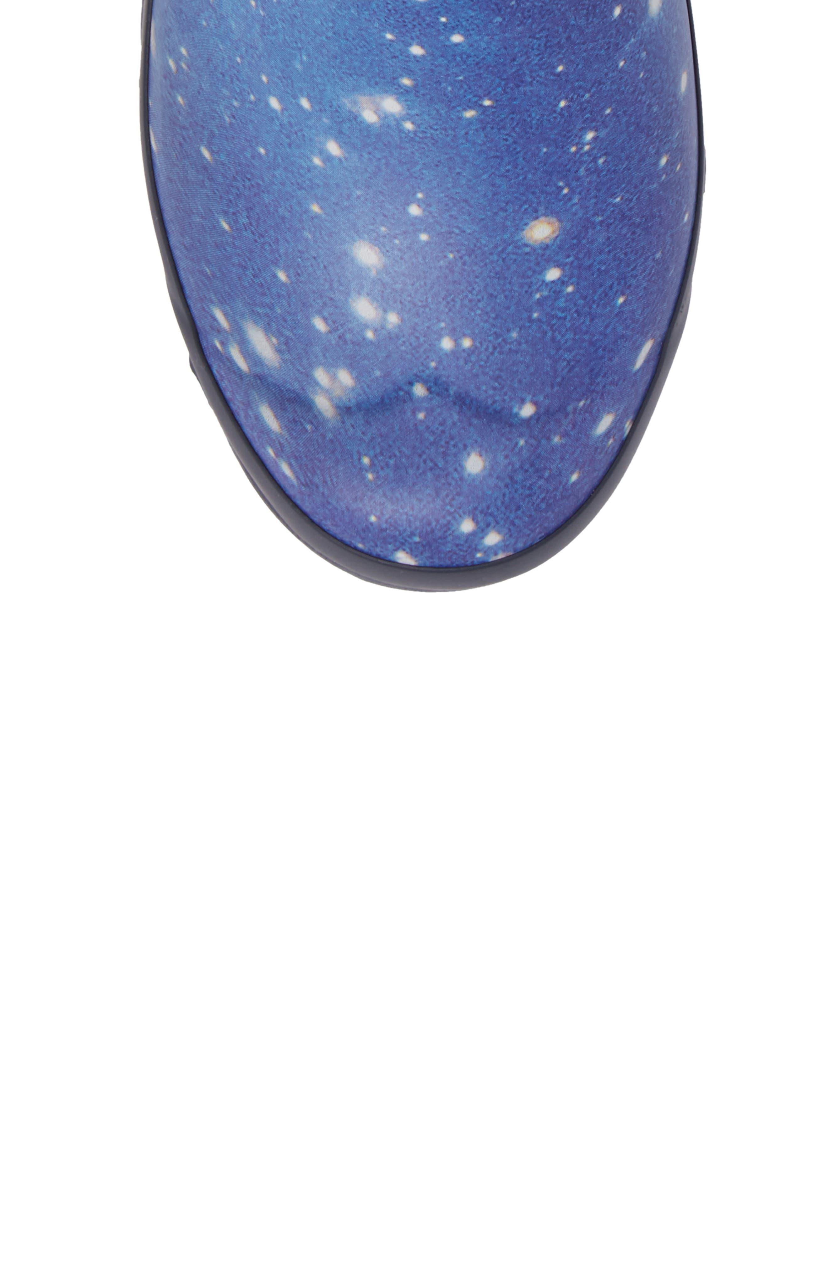 Space Camo Waterproof Rain Boot,                             Alternate thumbnail 5, color,