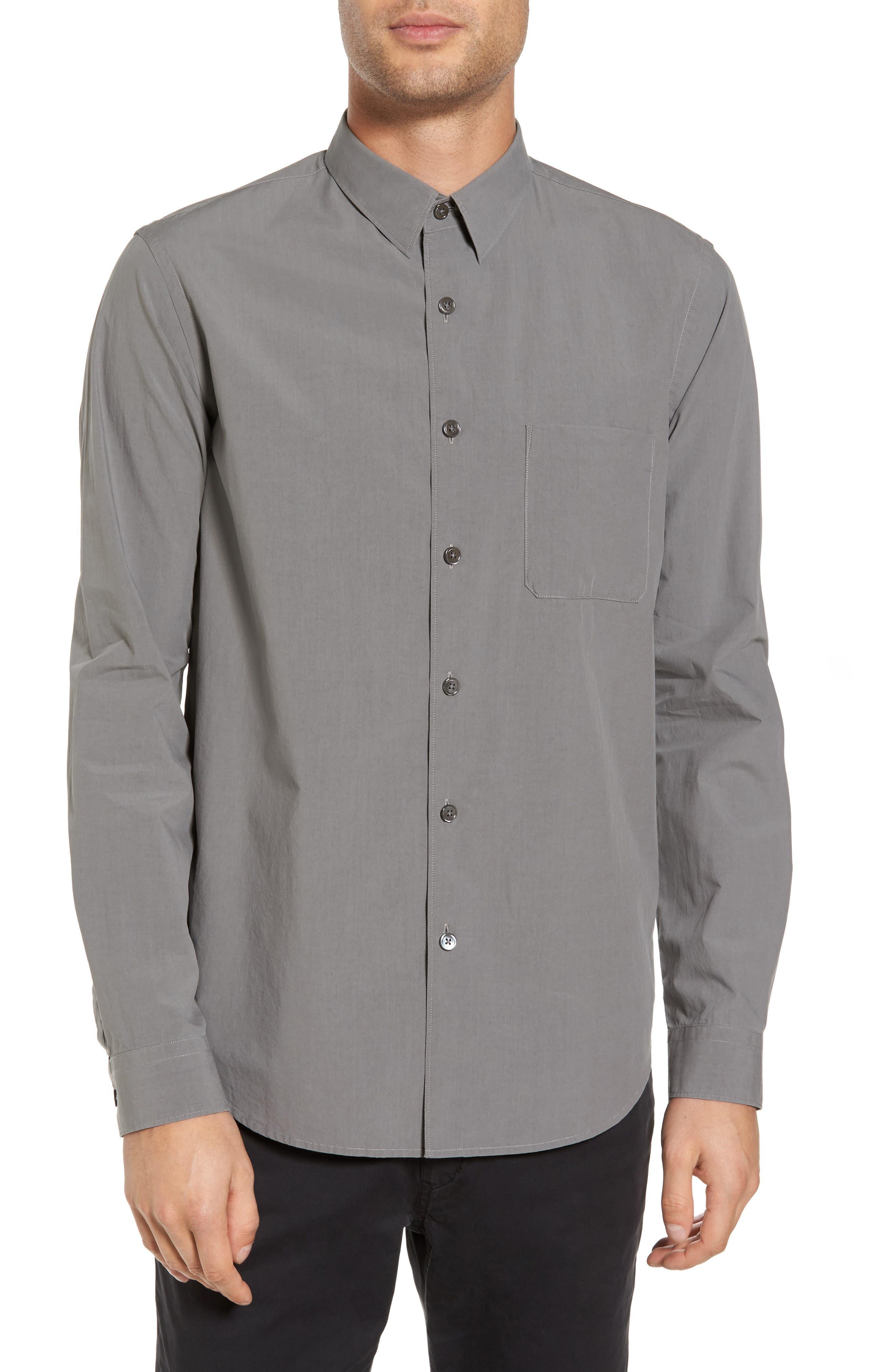 Rammy Trim Fit Solid Sport Shirt,                         Main,                         color, 020