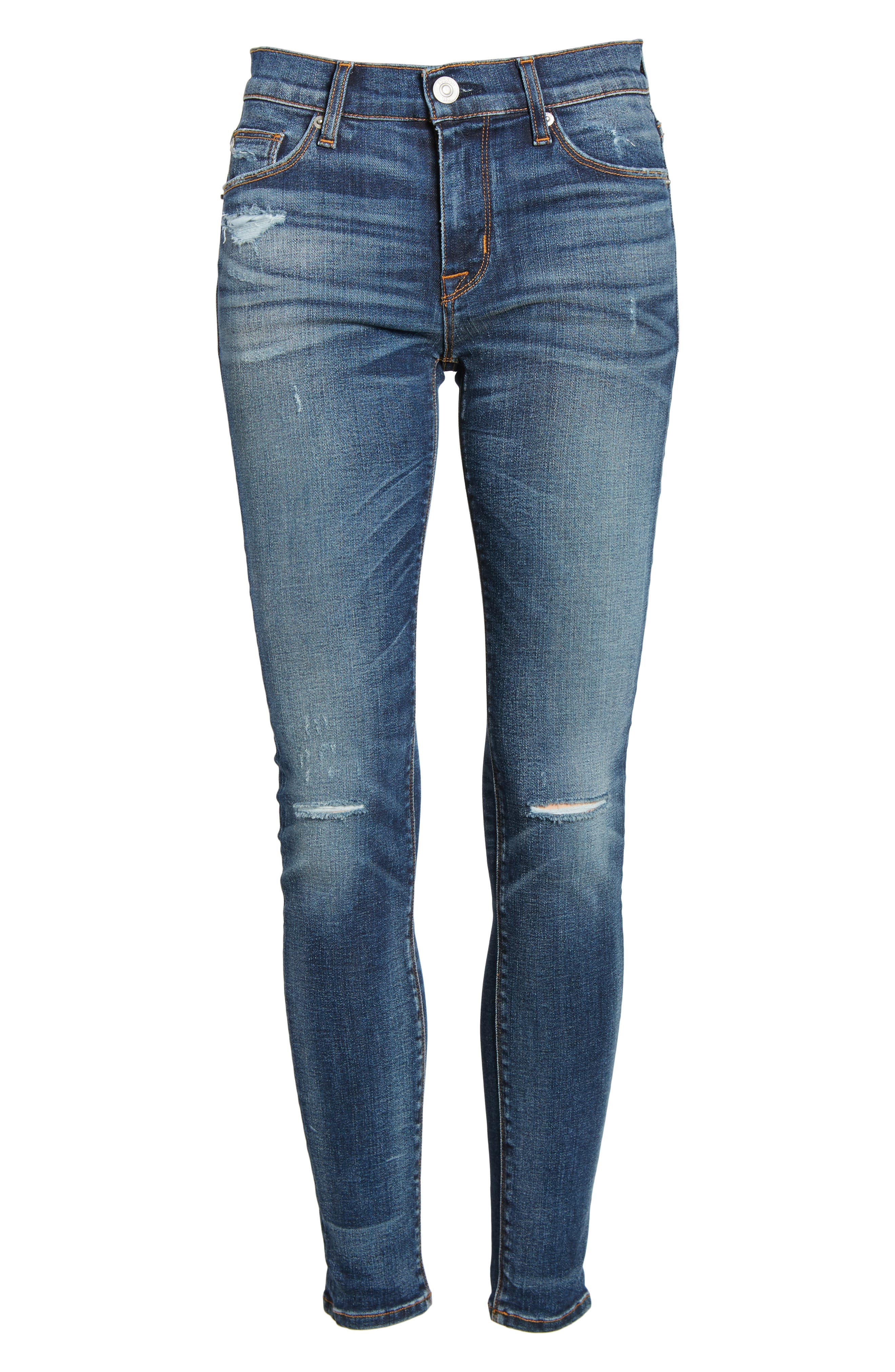 Nico Ankle Super Skinny Jeans,                             Alternate thumbnail 7, color,                             CONFESSION