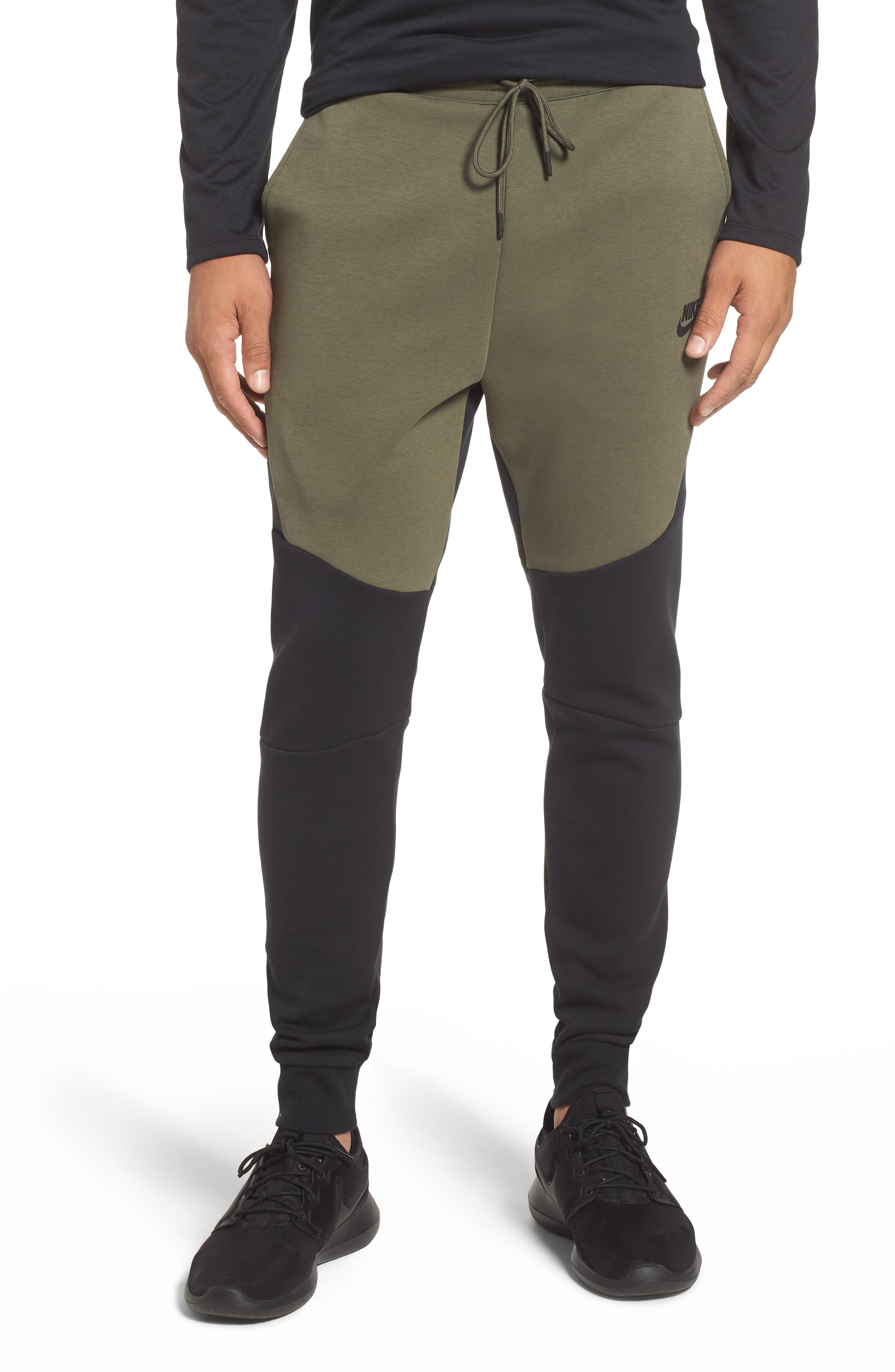 Tech Fleece Jogger Pants,                         Main,                         color, BLACK/ TWILIGHT MARSH/ BLACK