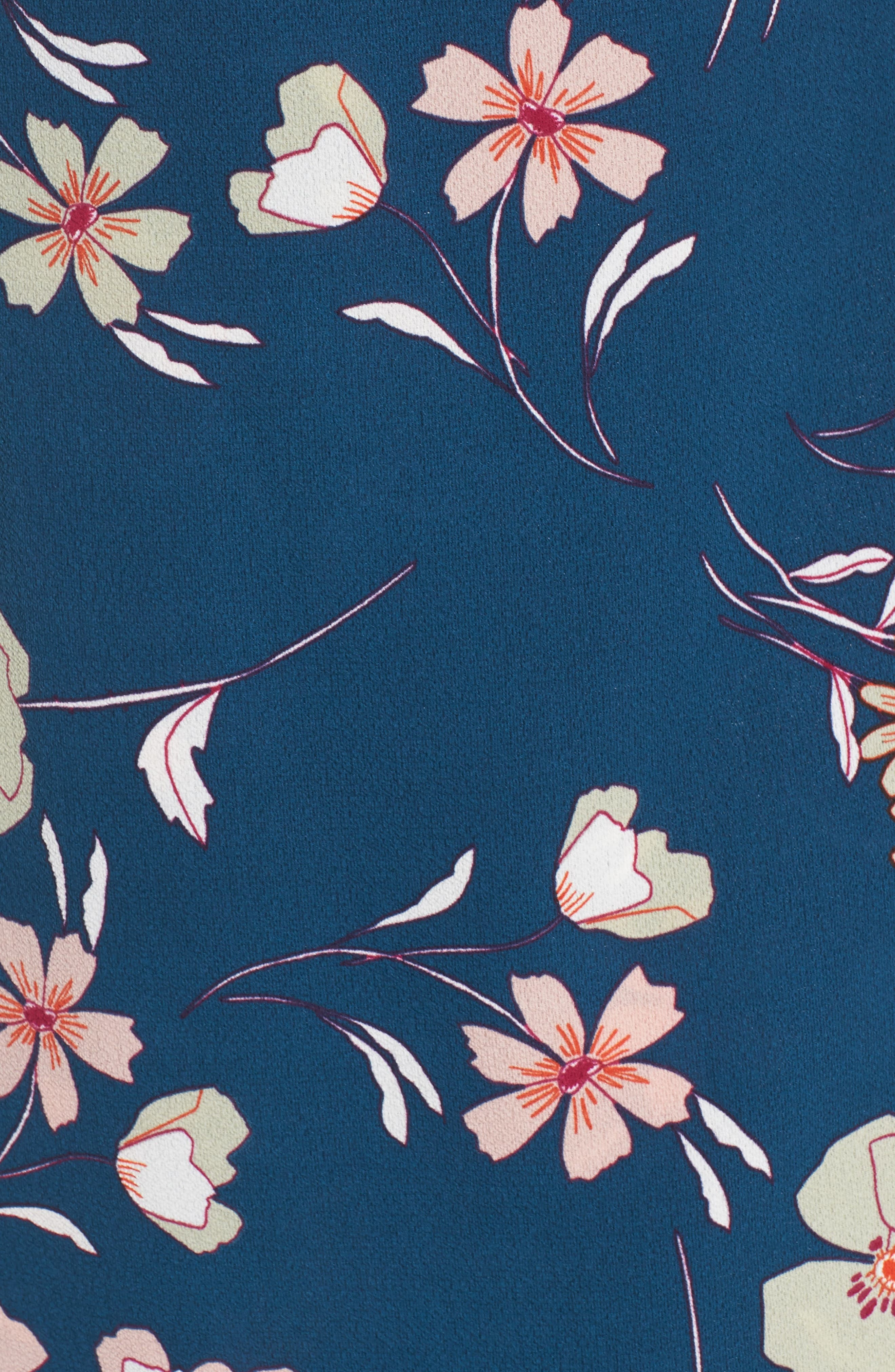 Lulu Floral Wrap Dress,                             Alternate thumbnail 5, color,                             656