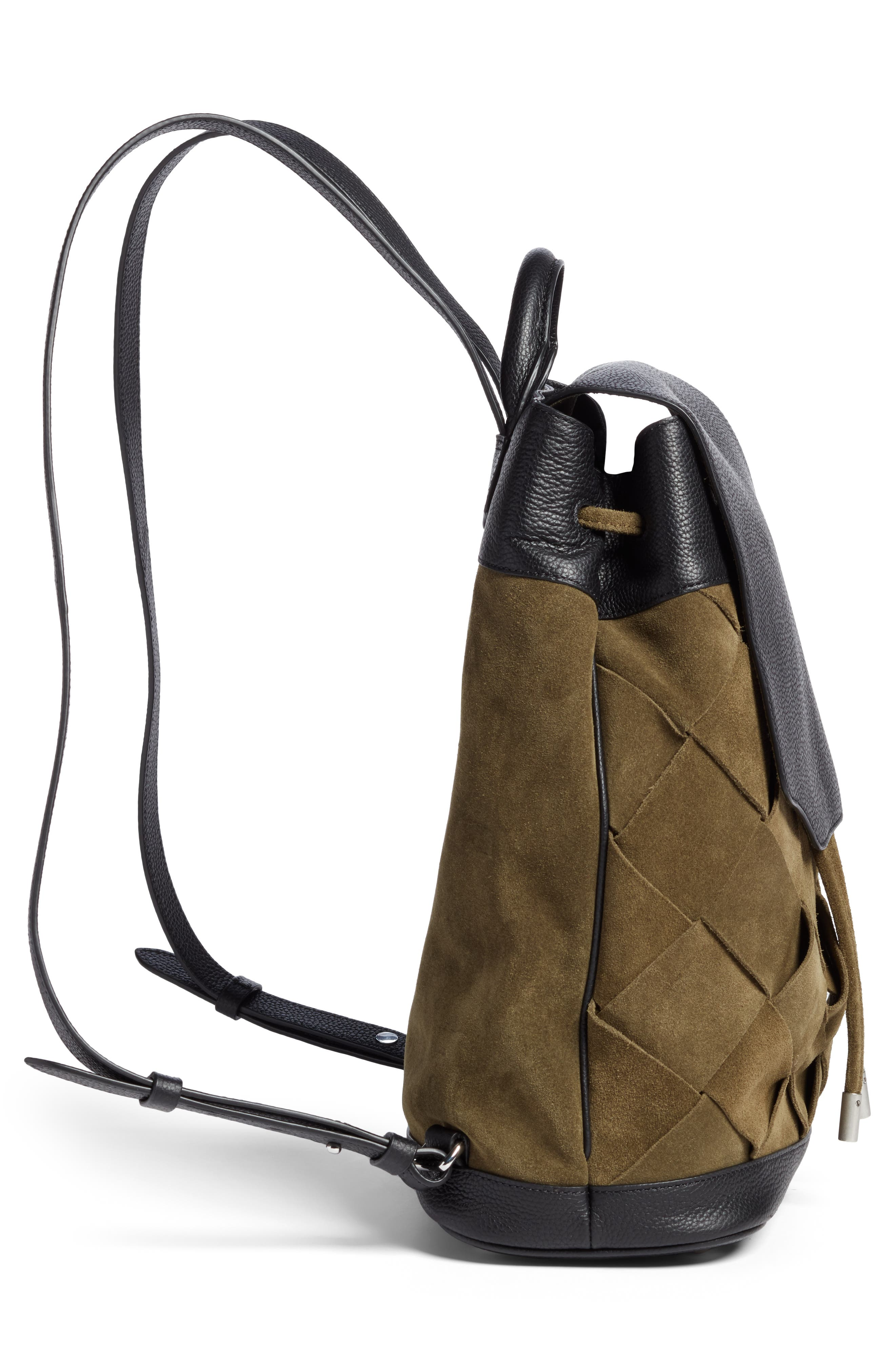 Pilot Suede & Leather Backpack,                             Alternate thumbnail 5, color,                             300