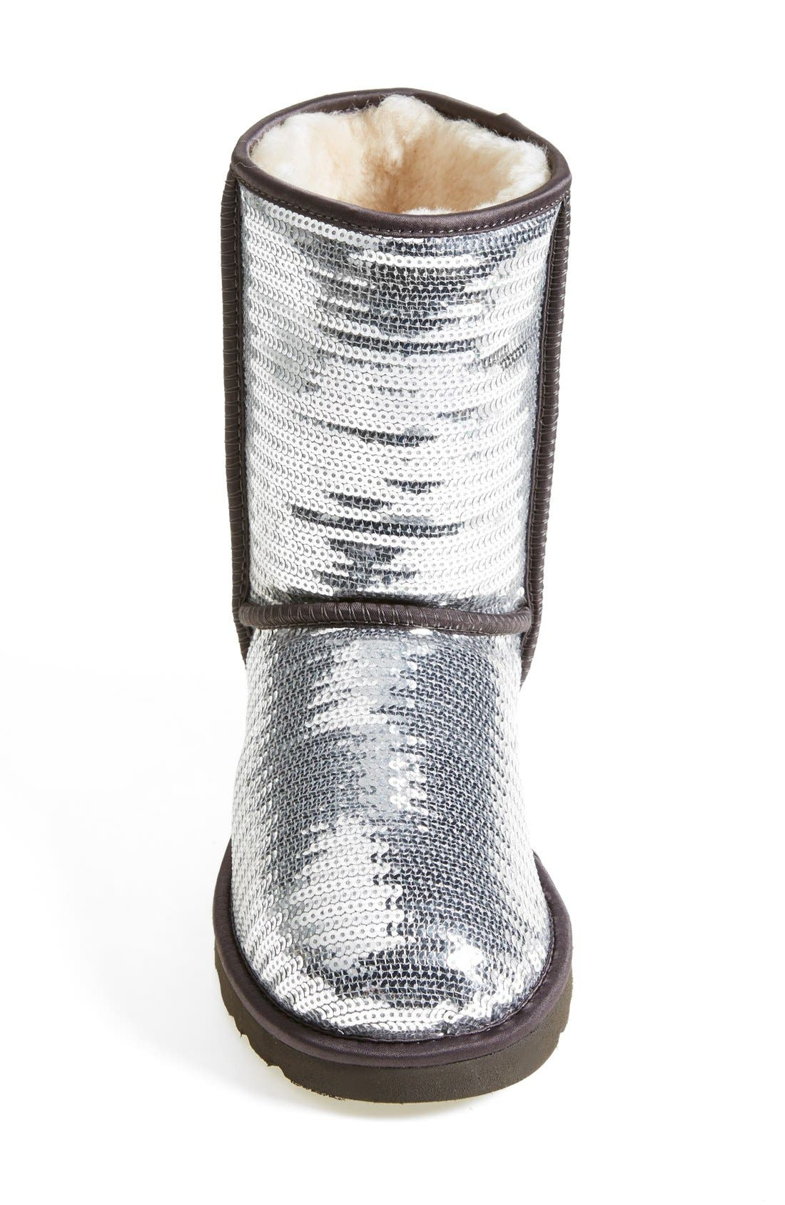 Australia 'Classic Short Sparkles' Boot,                             Alternate thumbnail 4, color,                             010