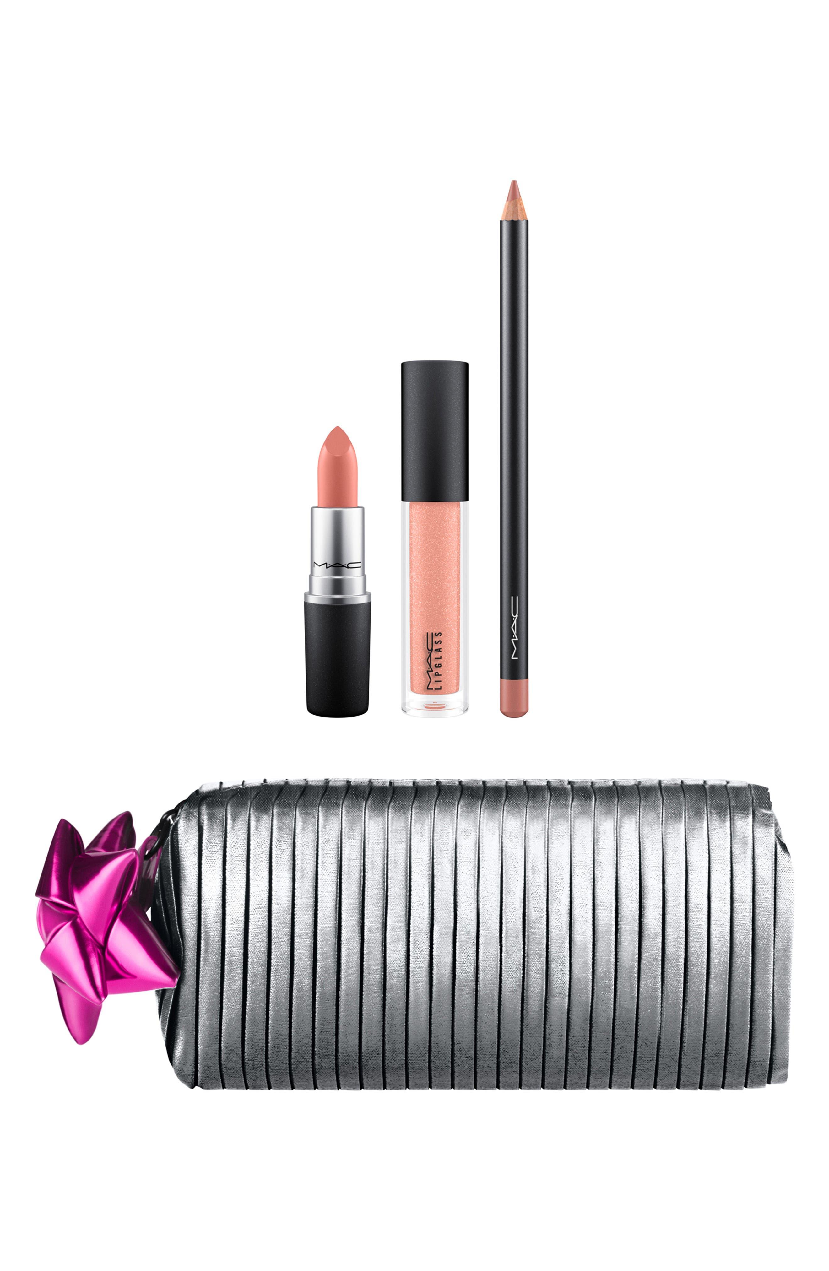 MAC Shiny Pretty Things Goody Bag Nude Lips,                             Main thumbnail 1, color,                             NUDE LIPS