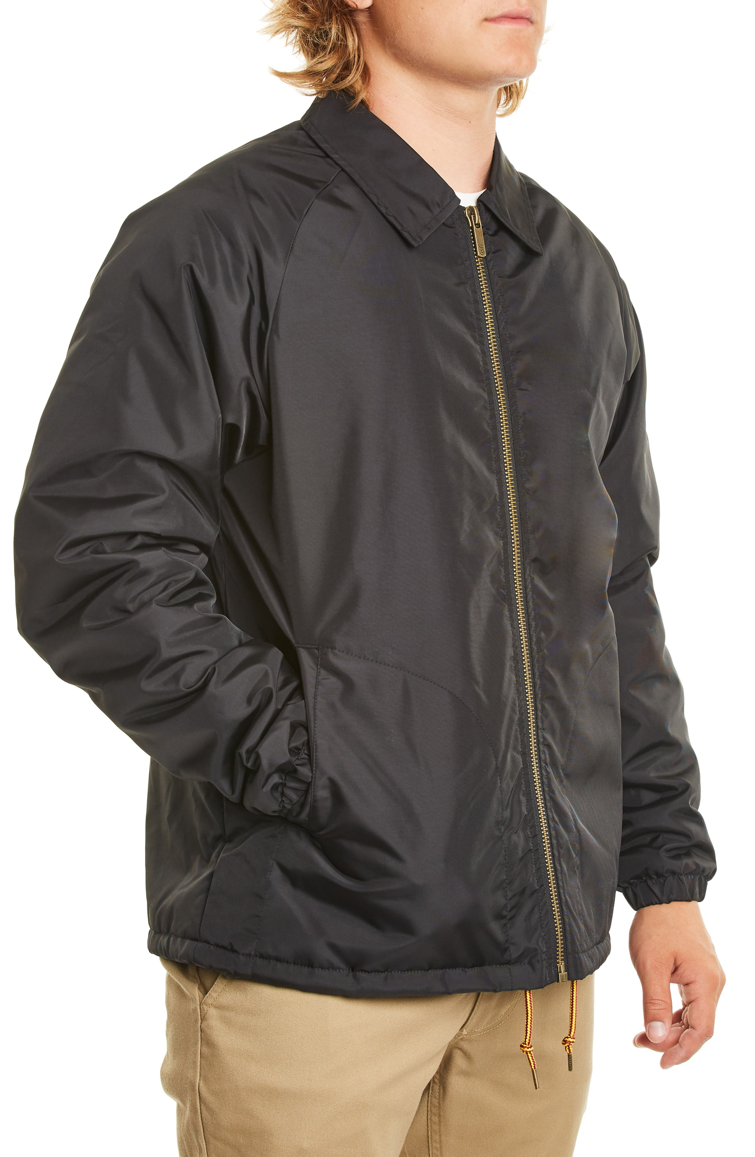 Claxton Water Repellent Jacket with Faux Shearling,                             Alternate thumbnail 3, color,                             BLACK