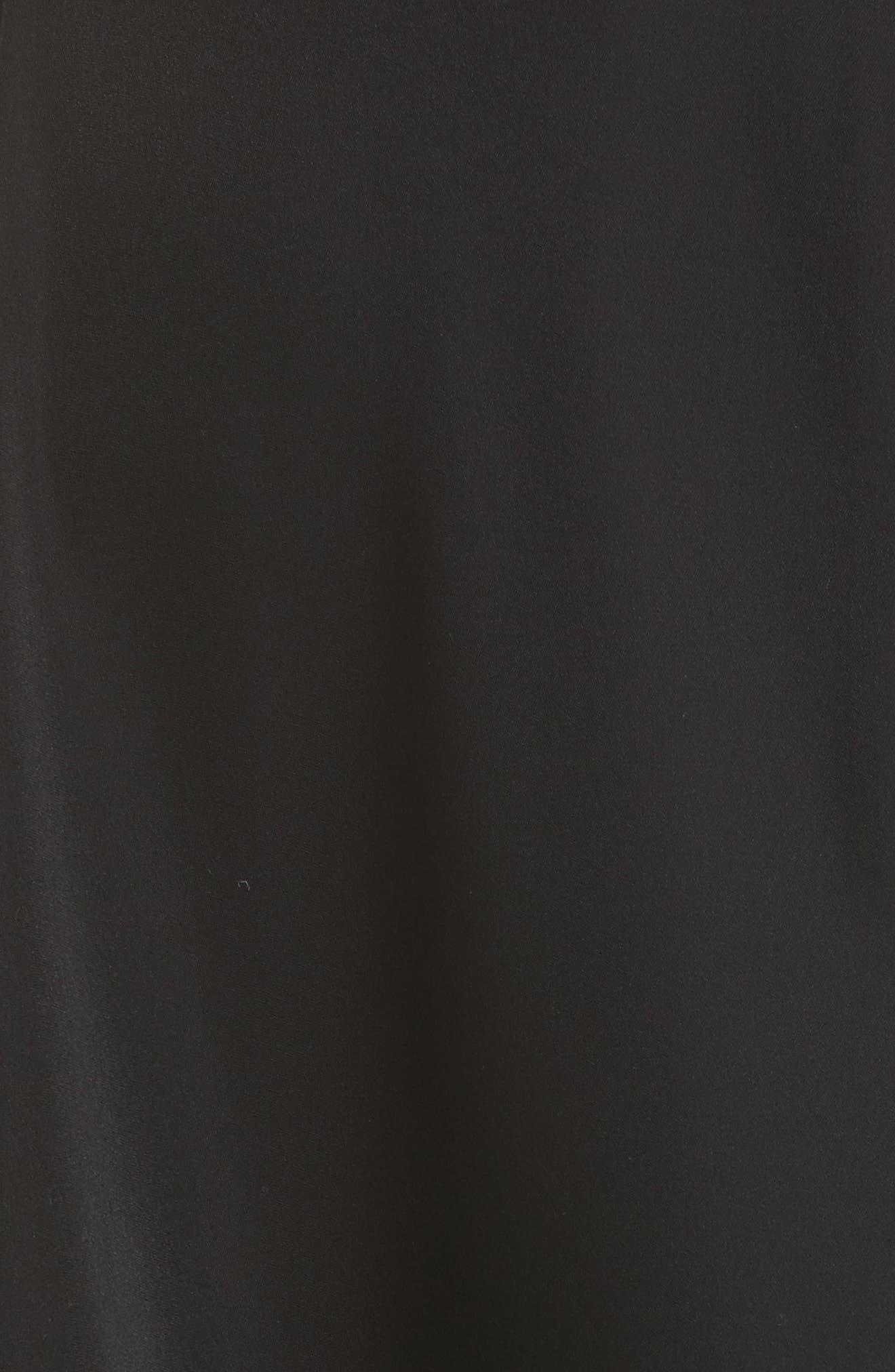 Oversize Drape Front Dress,                             Alternate thumbnail 5, color,                             001