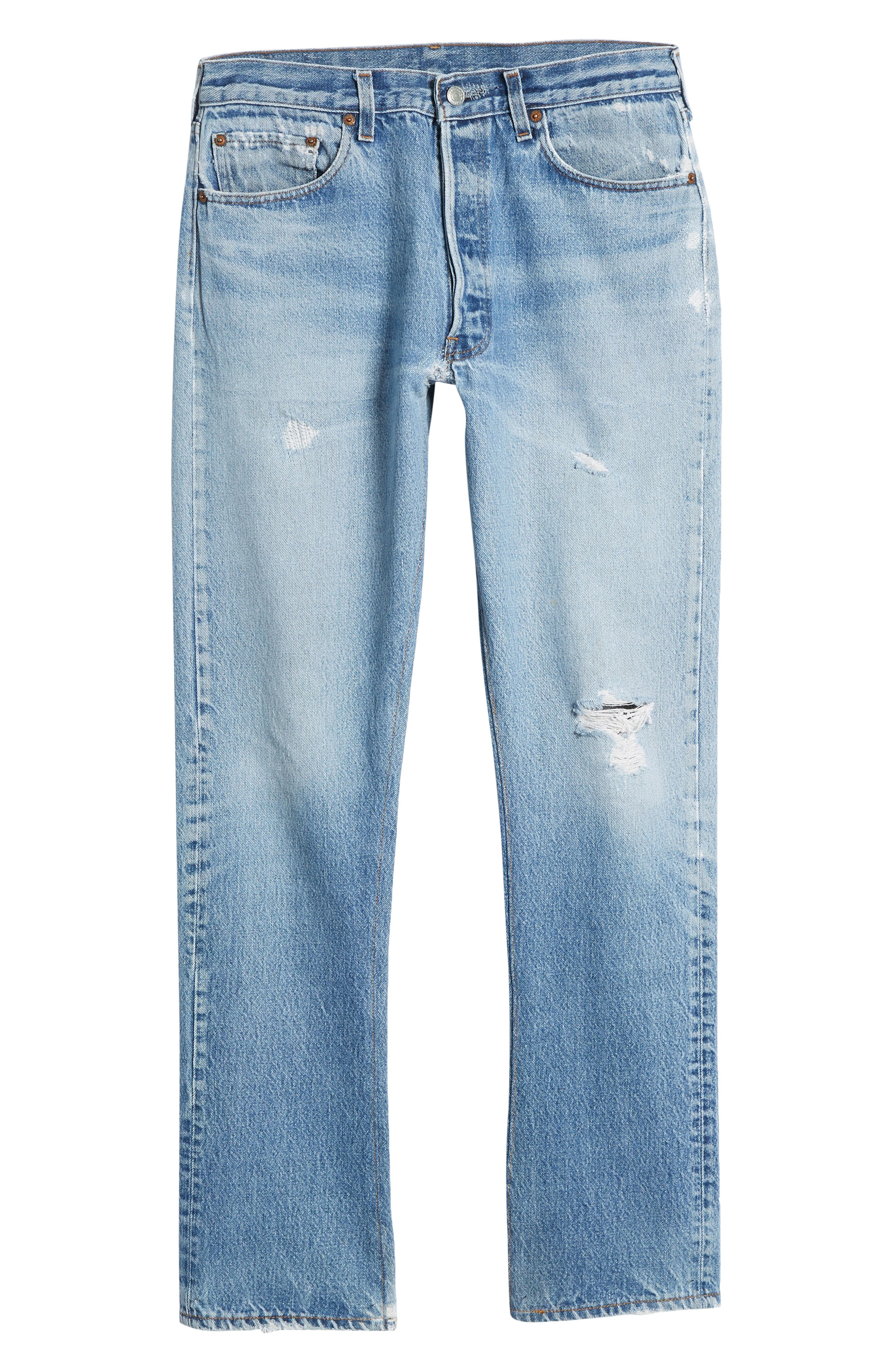 Authorized Vintage 501<sup>™</sup> Tapered Slim Fit Jeans,                             Alternate thumbnail 6, color,                             AV BLUE