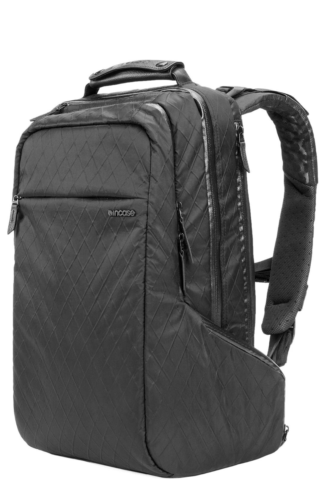 'Icon' Diamond Wire Backpack,                             Main thumbnail 1, color,                             BLACK
