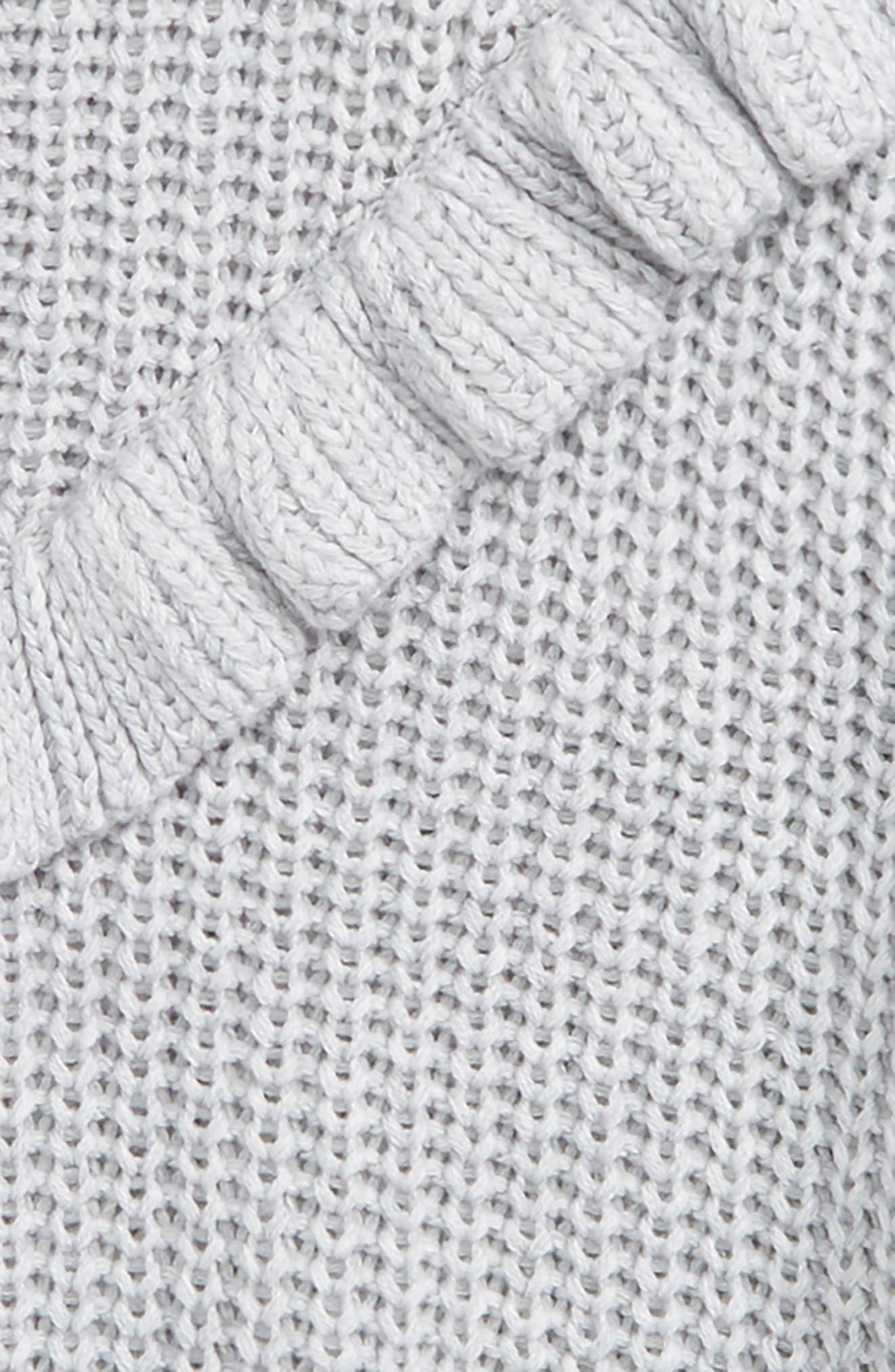 BLANCNYC Ruffle Sweater,                             Alternate thumbnail 4, color,