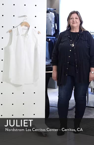 Sleeveless Button Front Top, sales video thumbnail