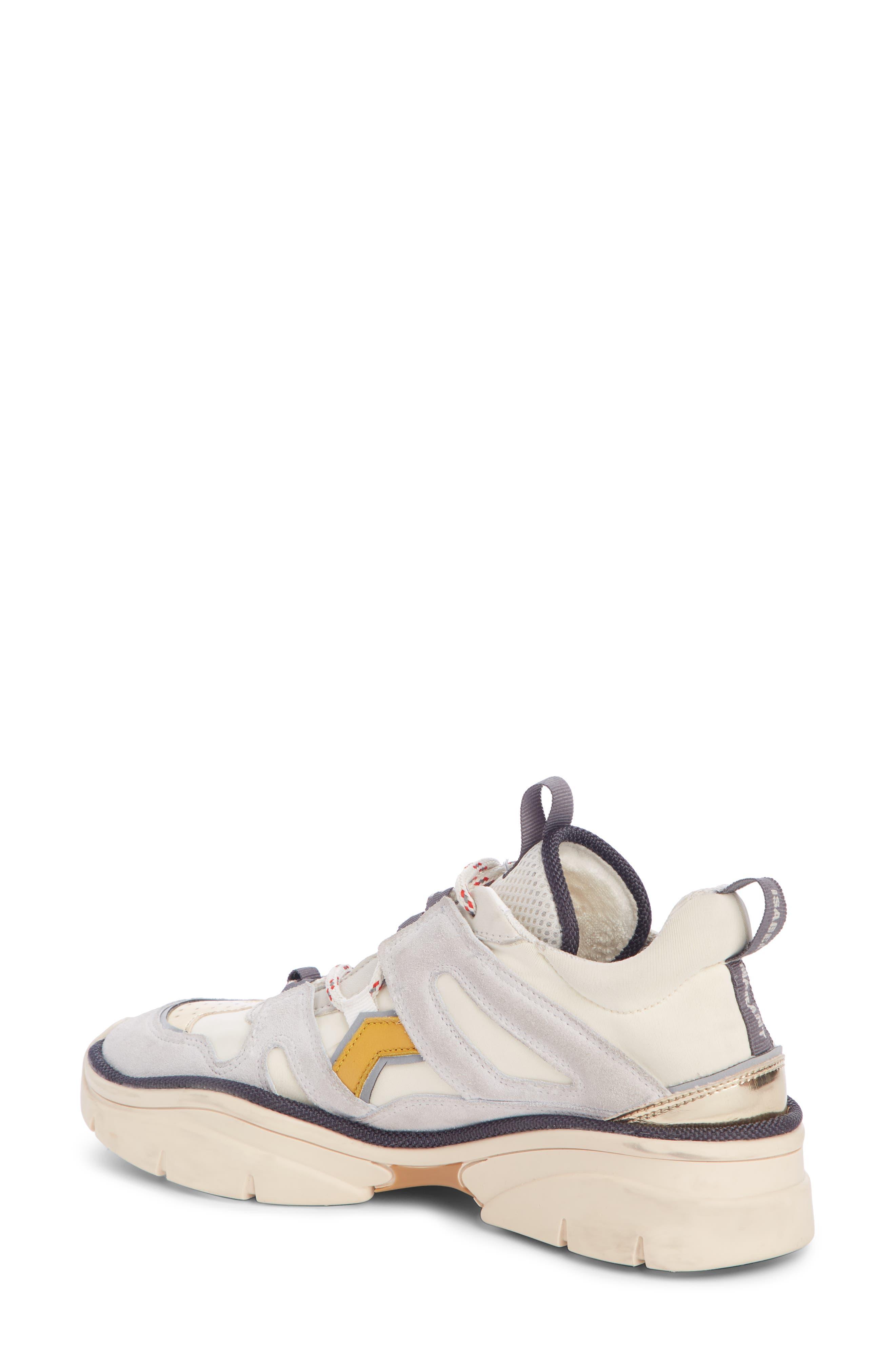 Kindsay Lace-Up Sneaker,                             Alternate thumbnail 2, color,                             WHITE
