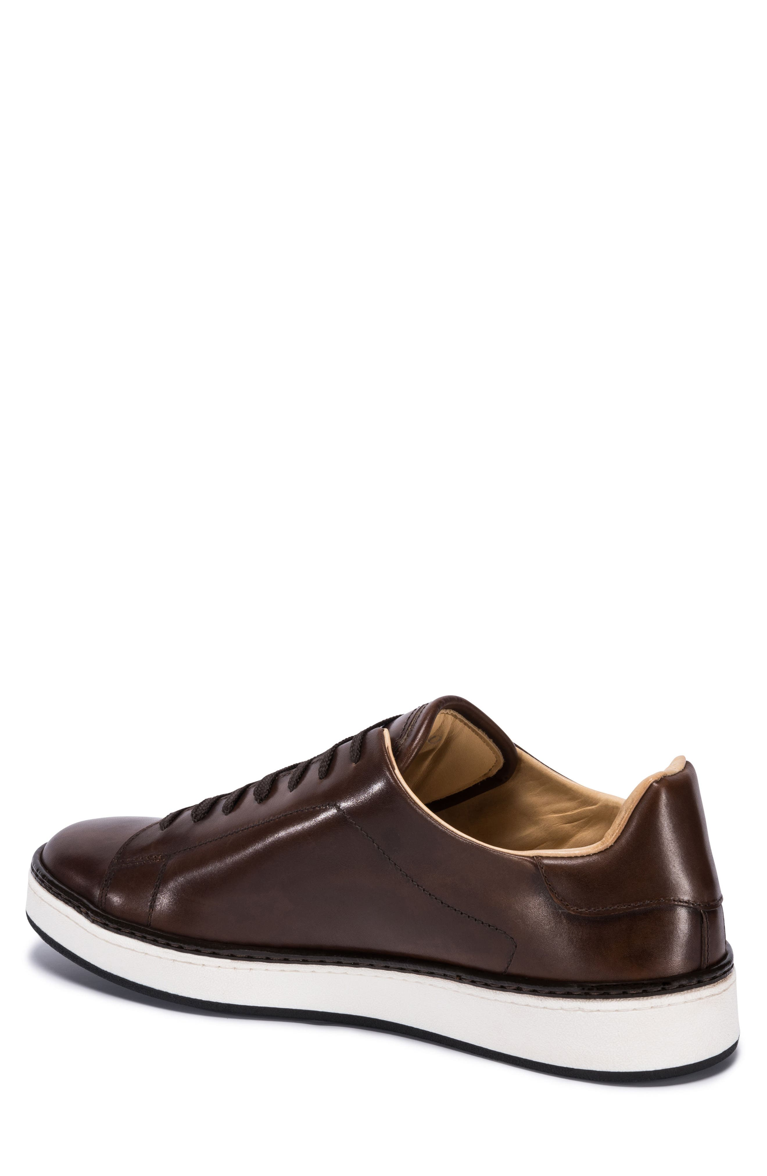 Firenze Low Top Sneaker,                             Alternate thumbnail 2, color,                             BURGUNDY LEATHER