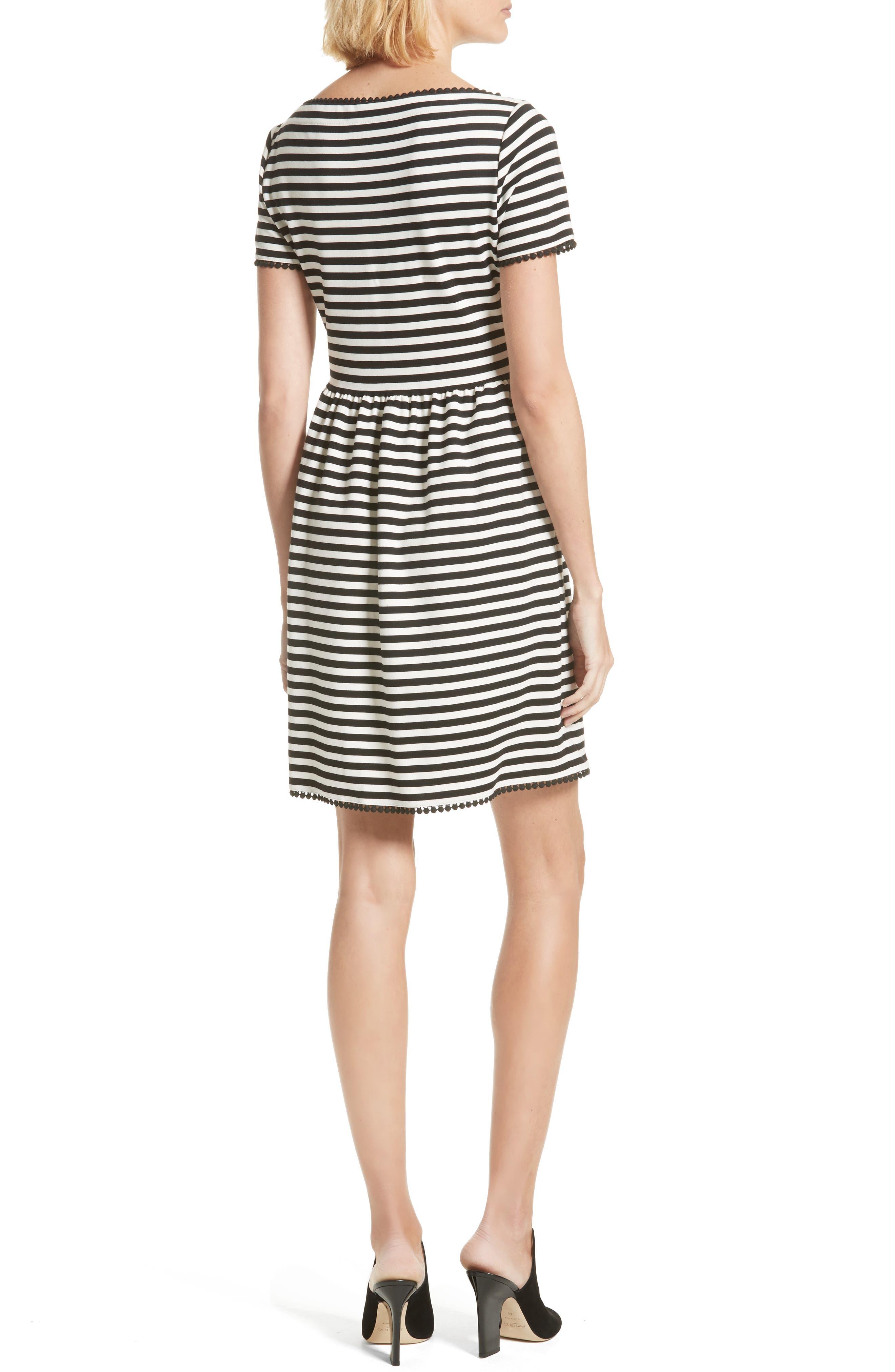 KATE SPADE NEW YORK,                             stripe ponte dress,                             Alternate thumbnail 2, color,                             900