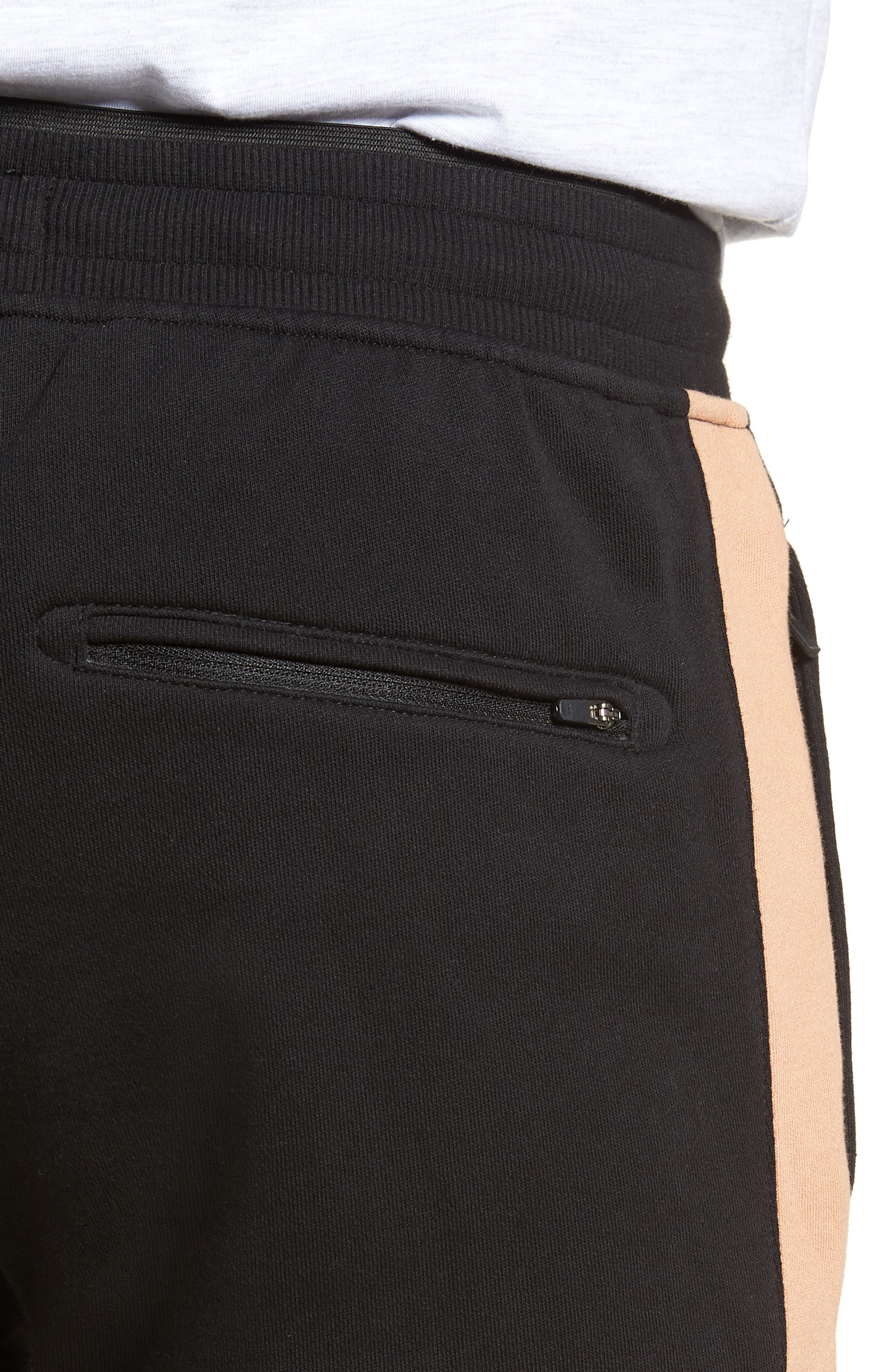 Jumpshot Slim Track Pants,                             Alternate thumbnail 4, color,                             BLACK/ BISCUIT