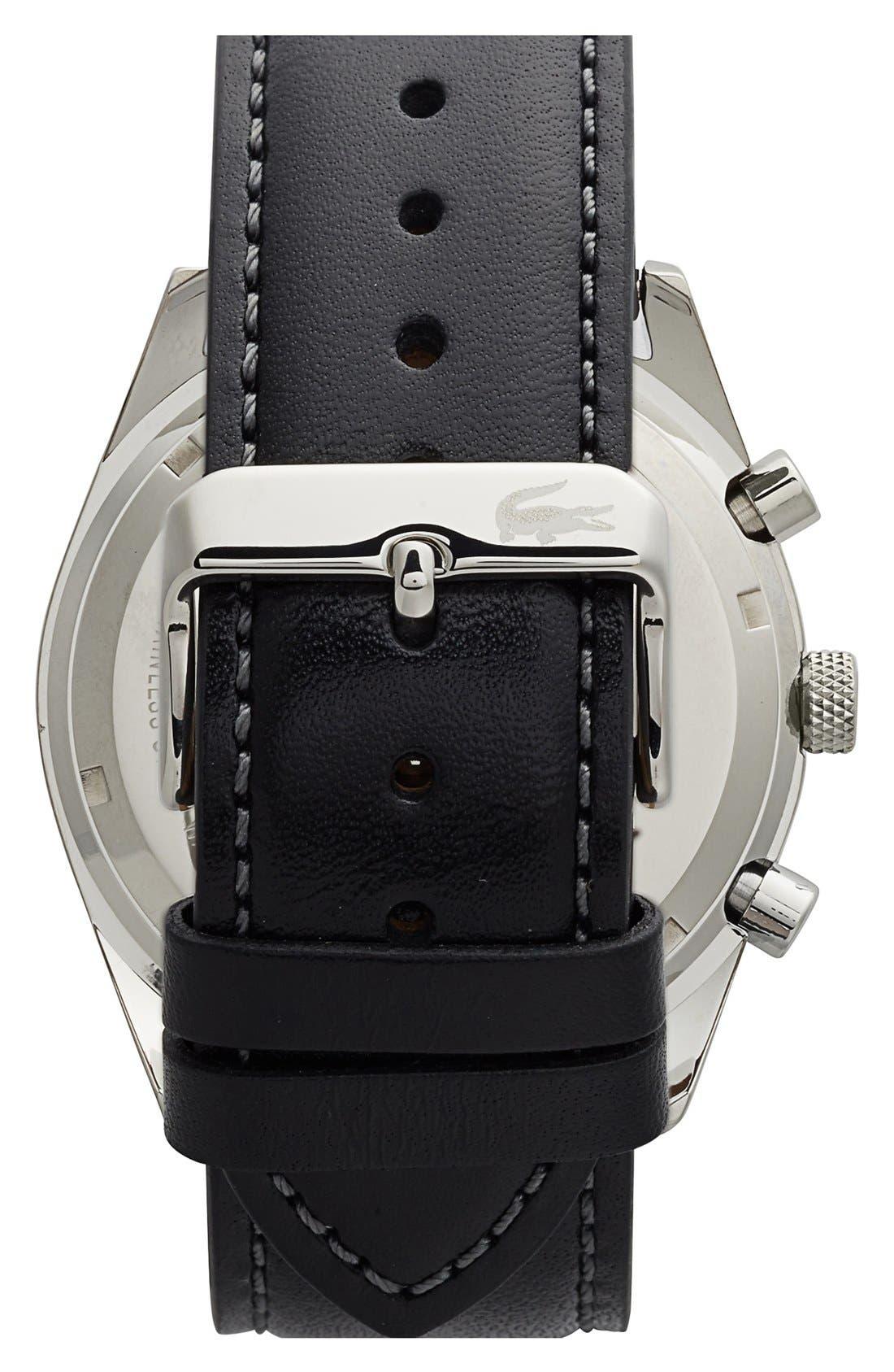 'Austin' Chronograph Leather Strap Watch, 44mm,                             Alternate thumbnail 6, color,
