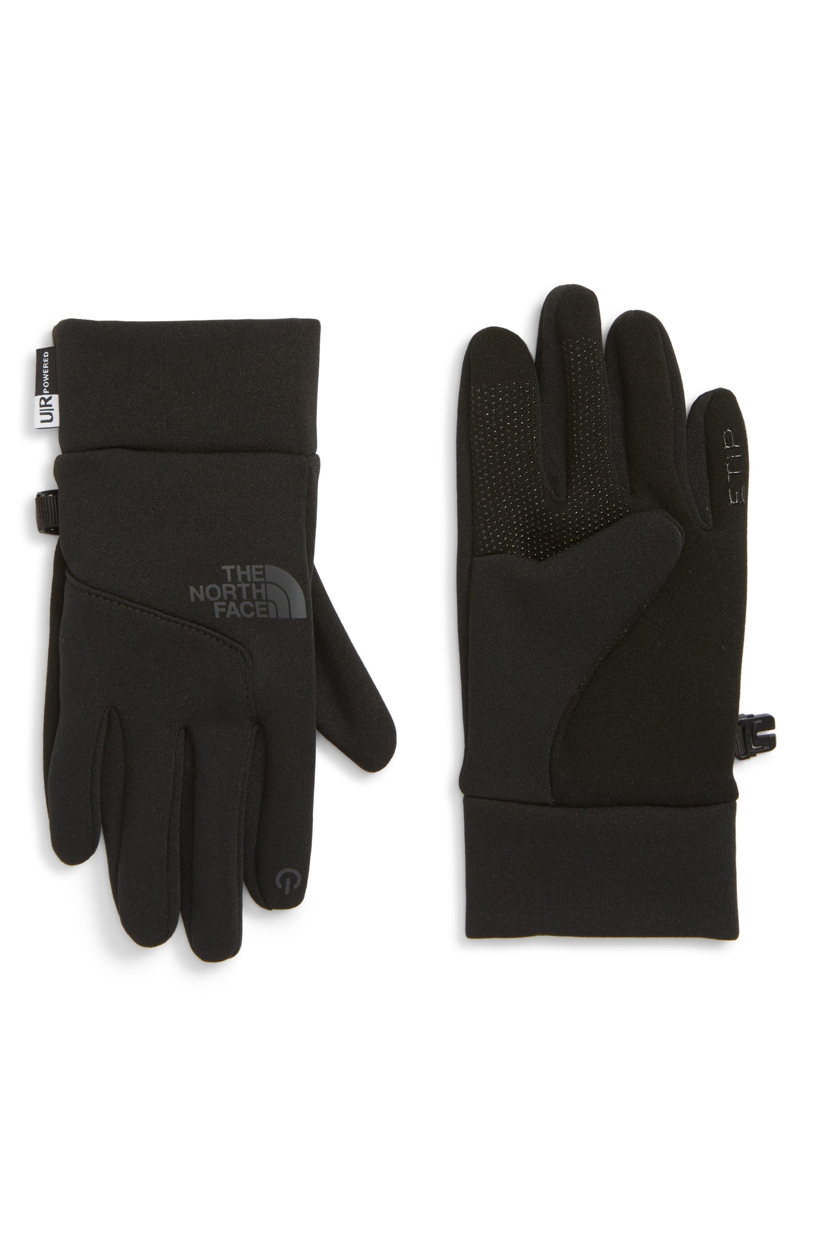 Etip Gloves,                             Main thumbnail 1, color,                             TNF BLACK