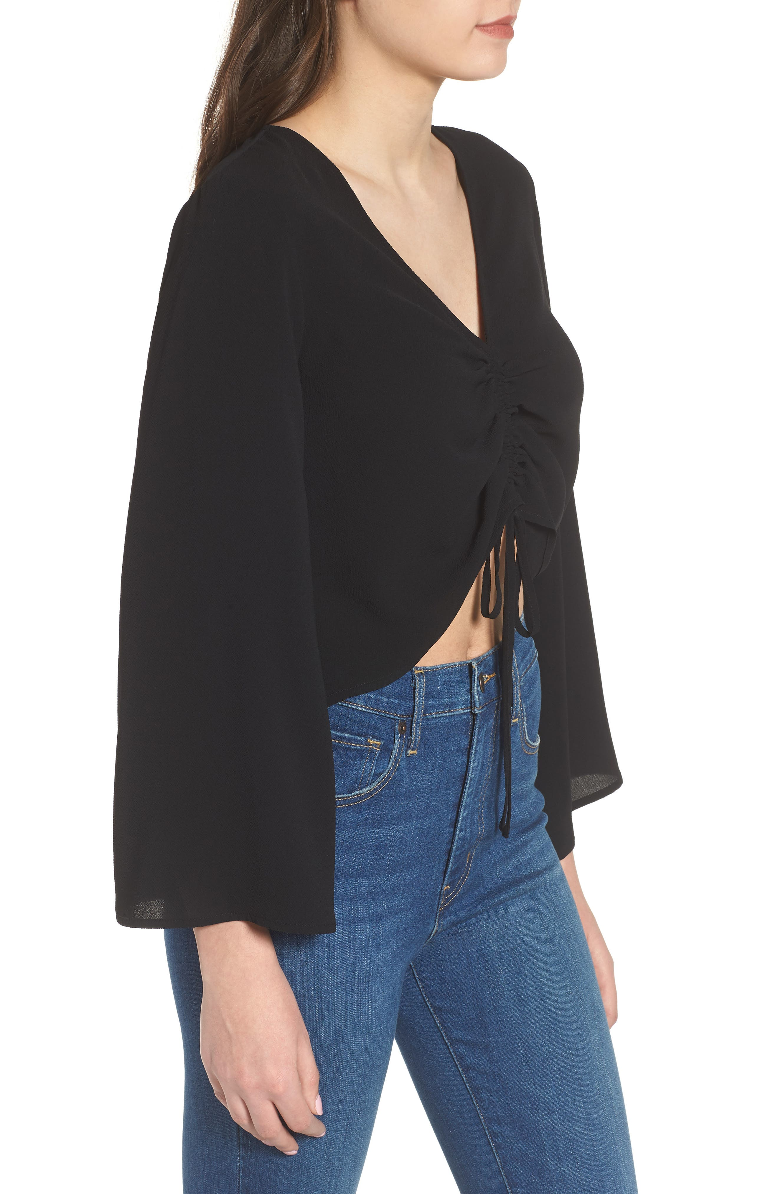 Ruched Front Top,                             Alternate thumbnail 7, color,