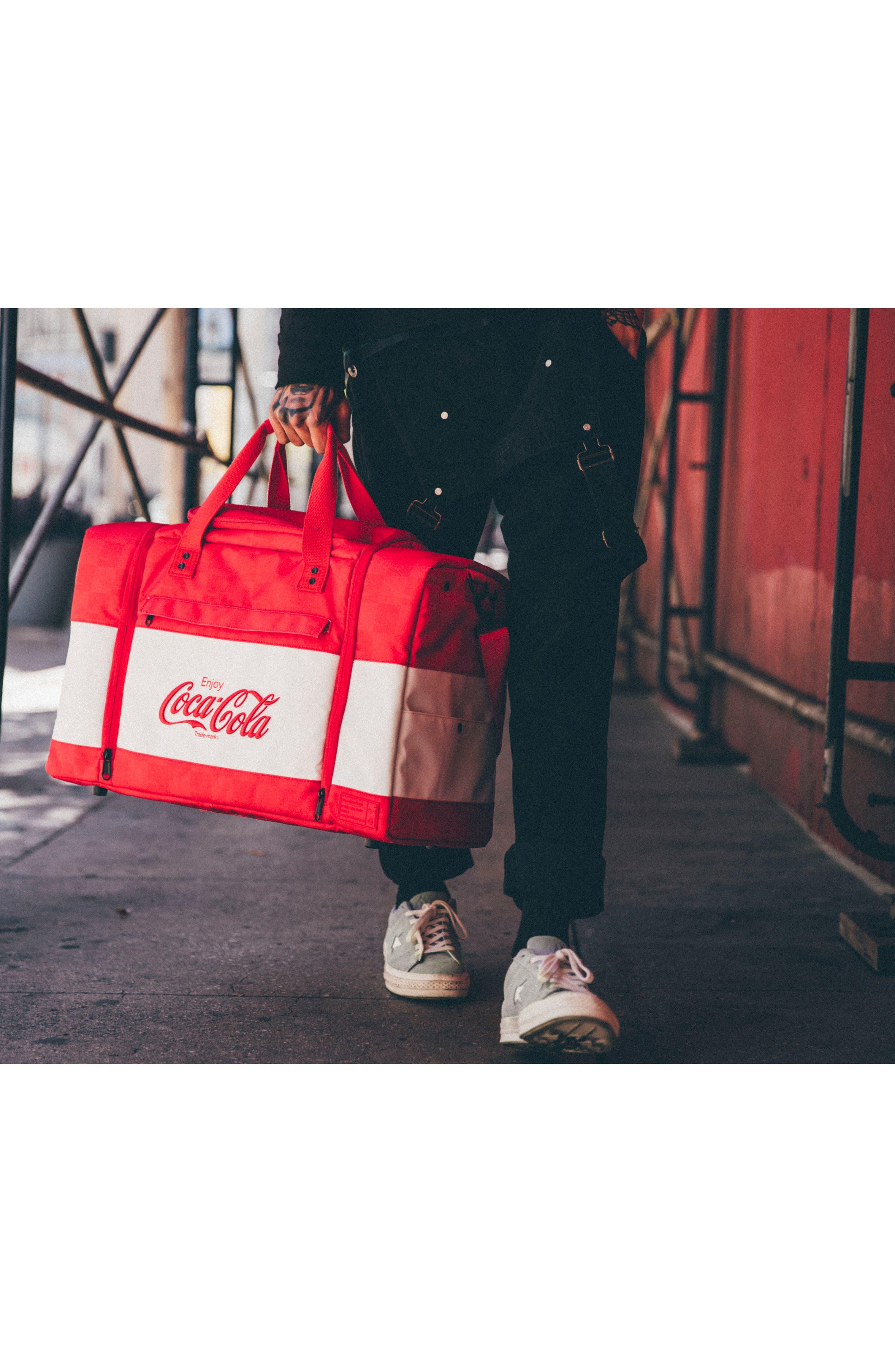 Coca Cola Sneaker Duffel Bag,                             Alternate thumbnail 8, color,                             600