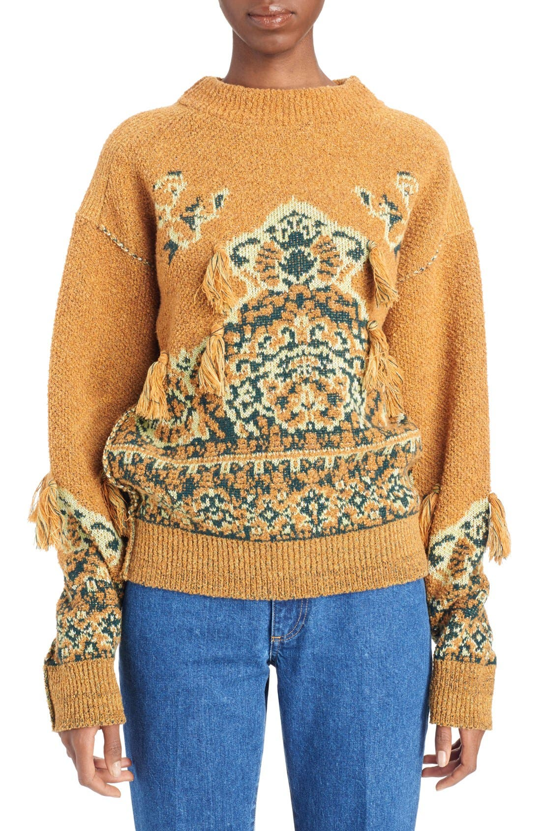 Tassel Wool Blend Sweater,                             Main thumbnail 1, color,                             700