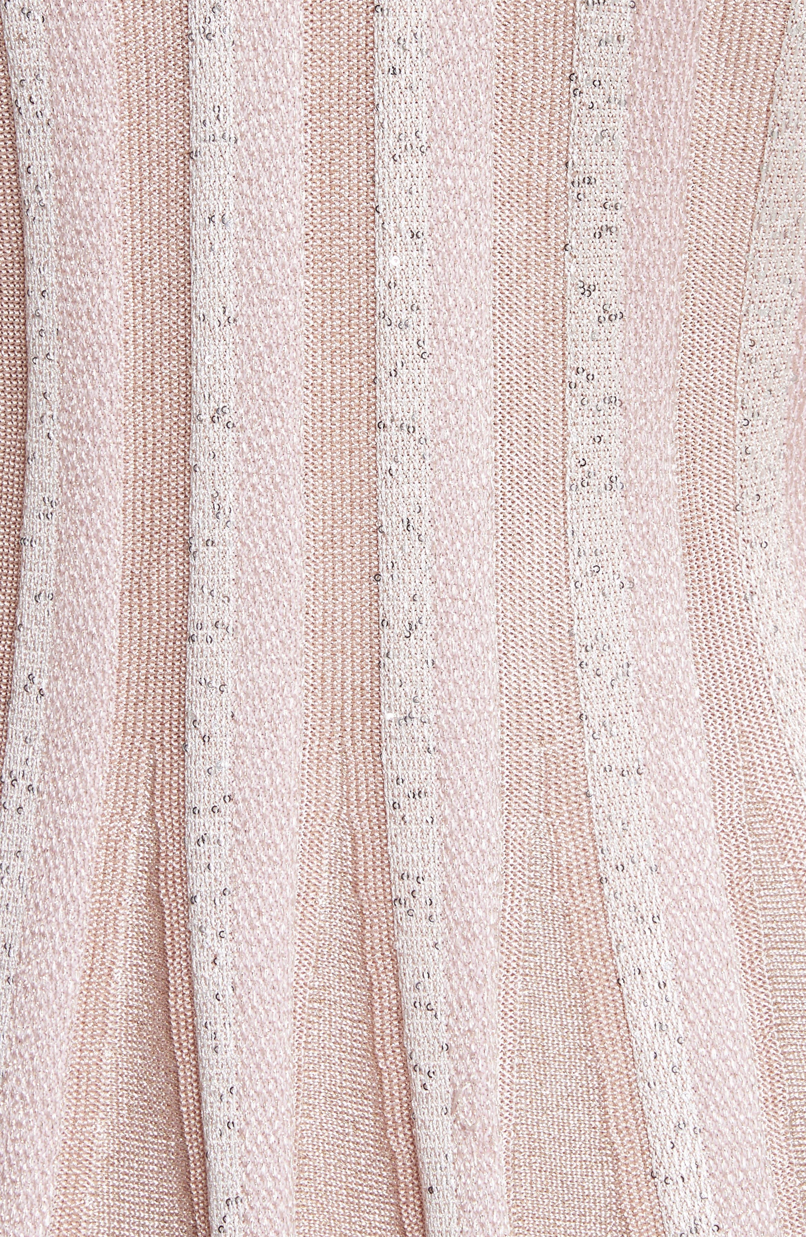 Ombré Sequin Stripe Knit Top,                             Alternate thumbnail 5, color,                             650