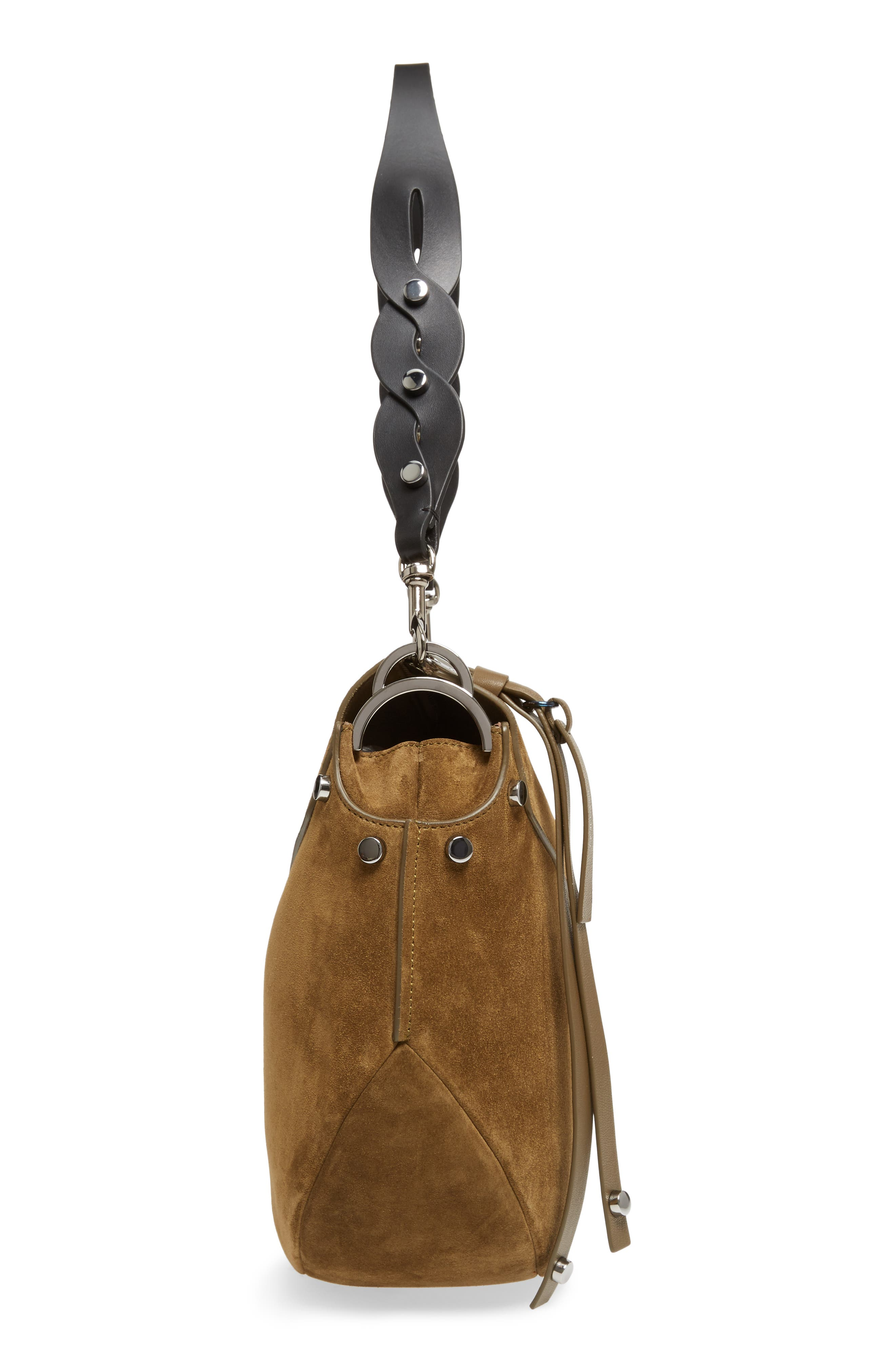 Artie Suede Hobo Bag,                             Alternate thumbnail 16, color,