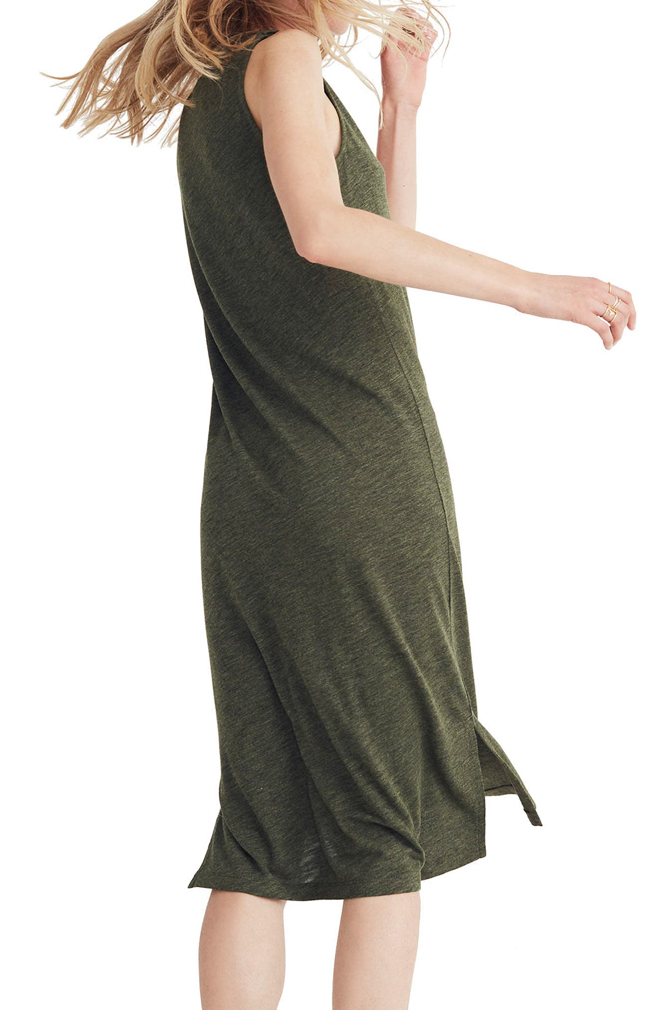 V-Neck Jersey Tank Dress,                             Alternate thumbnail 2, color,                             300