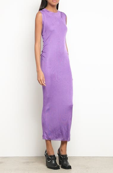Ruched Side Layered Rib Knit Dress, video thumbnail