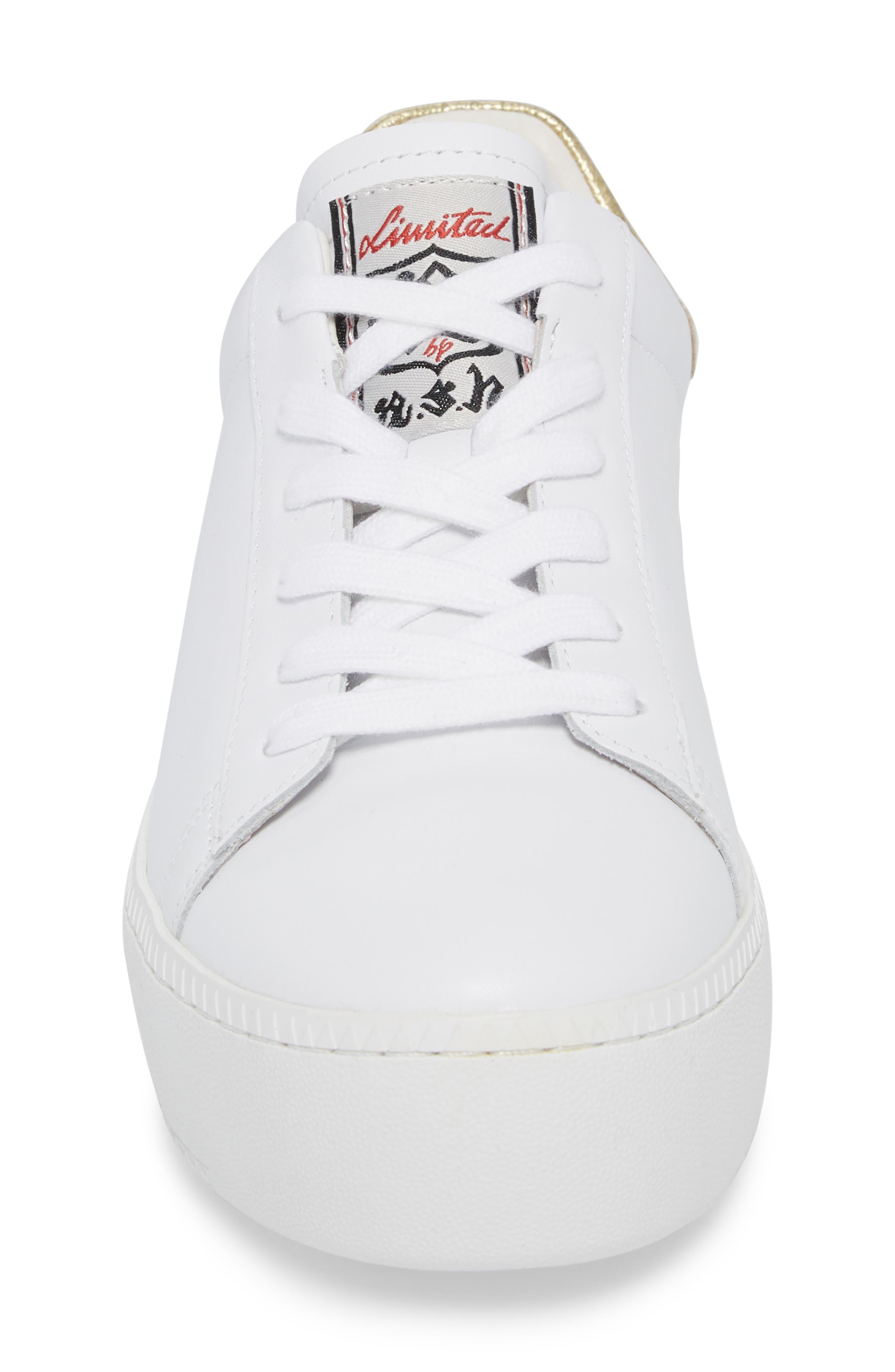 Cult Platform Sneaker,                             Alternate thumbnail 4, color,                             100