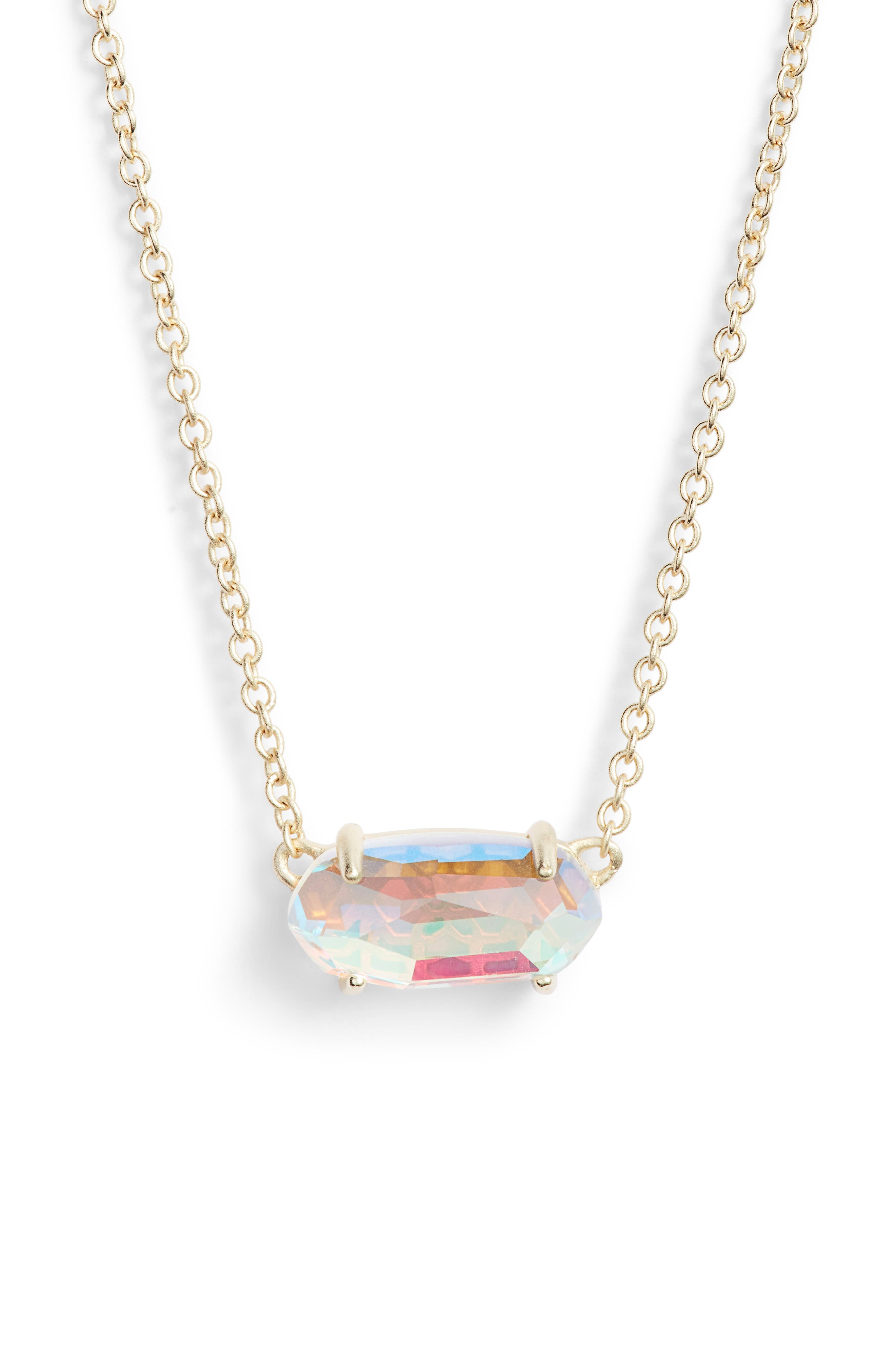Ever Pendant Necklace,                             Main thumbnail 1, color,                             DICHROIC GLASS/ GOLD
