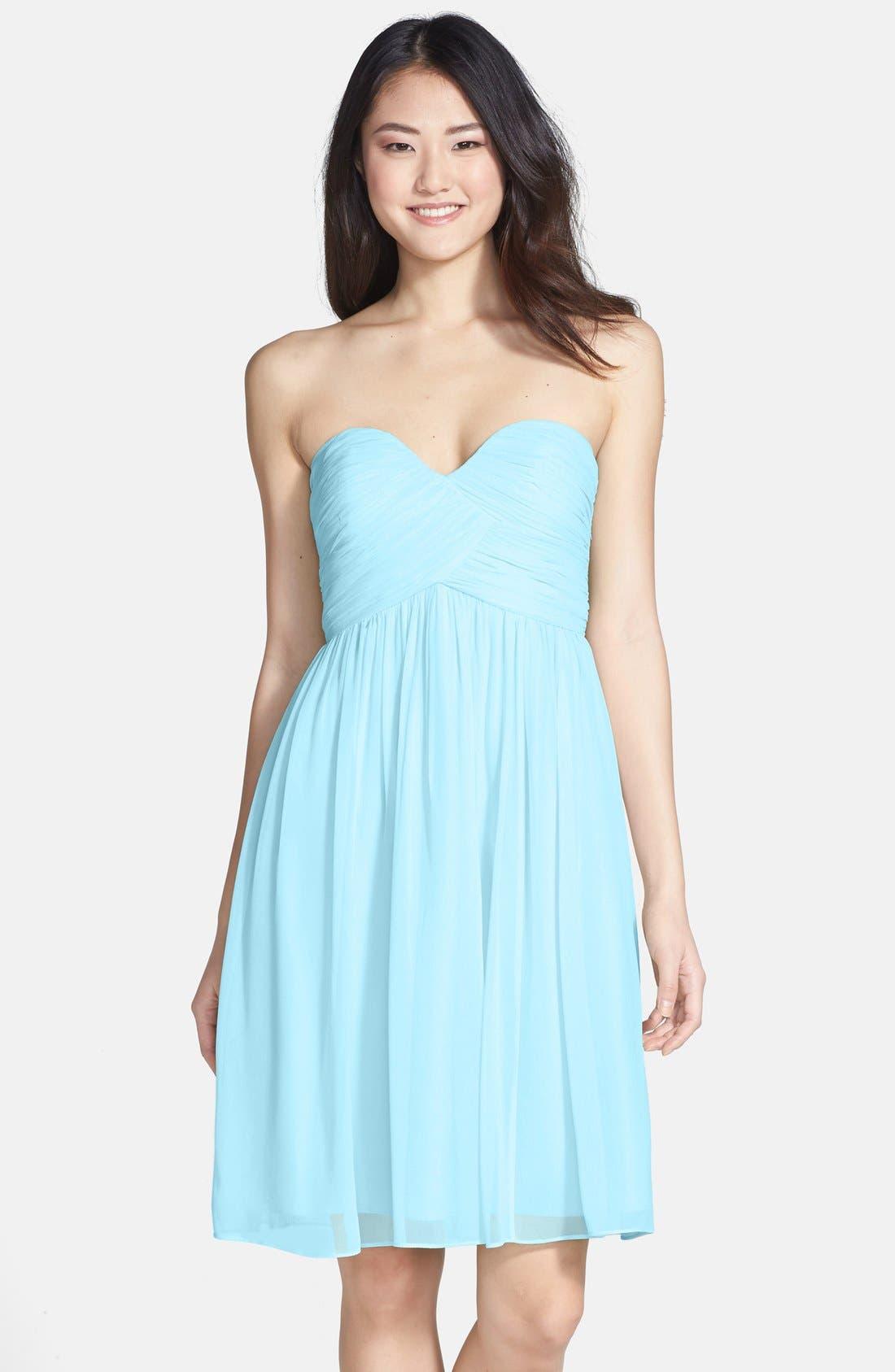 'Morgan' Strapless Silk Chiffon Dress,                             Alternate thumbnail 151, color,