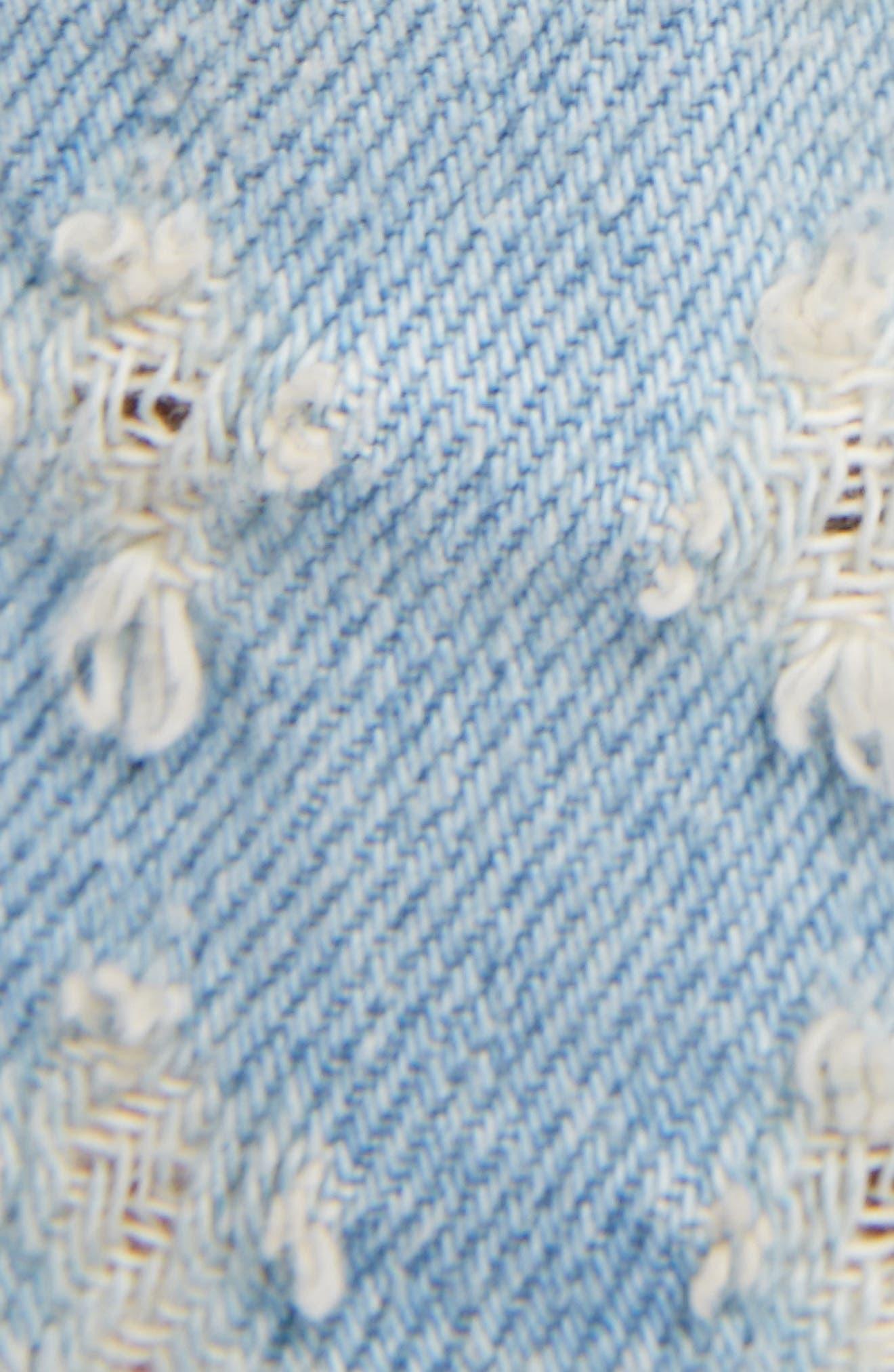 Isabel Marant Étoile Ripped Denim Shorts,                             Alternate thumbnail 10, color,