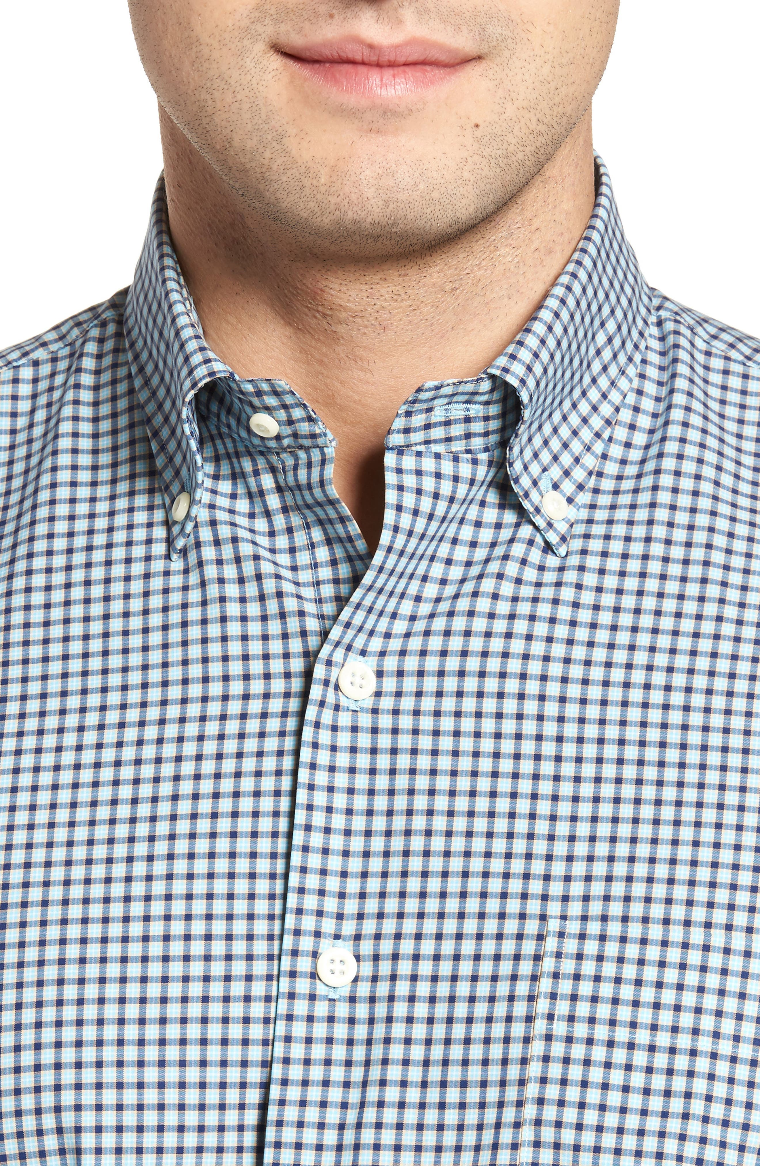 Classic Fit Alligator Check Sport Shirt,                             Alternate thumbnail 11, color,